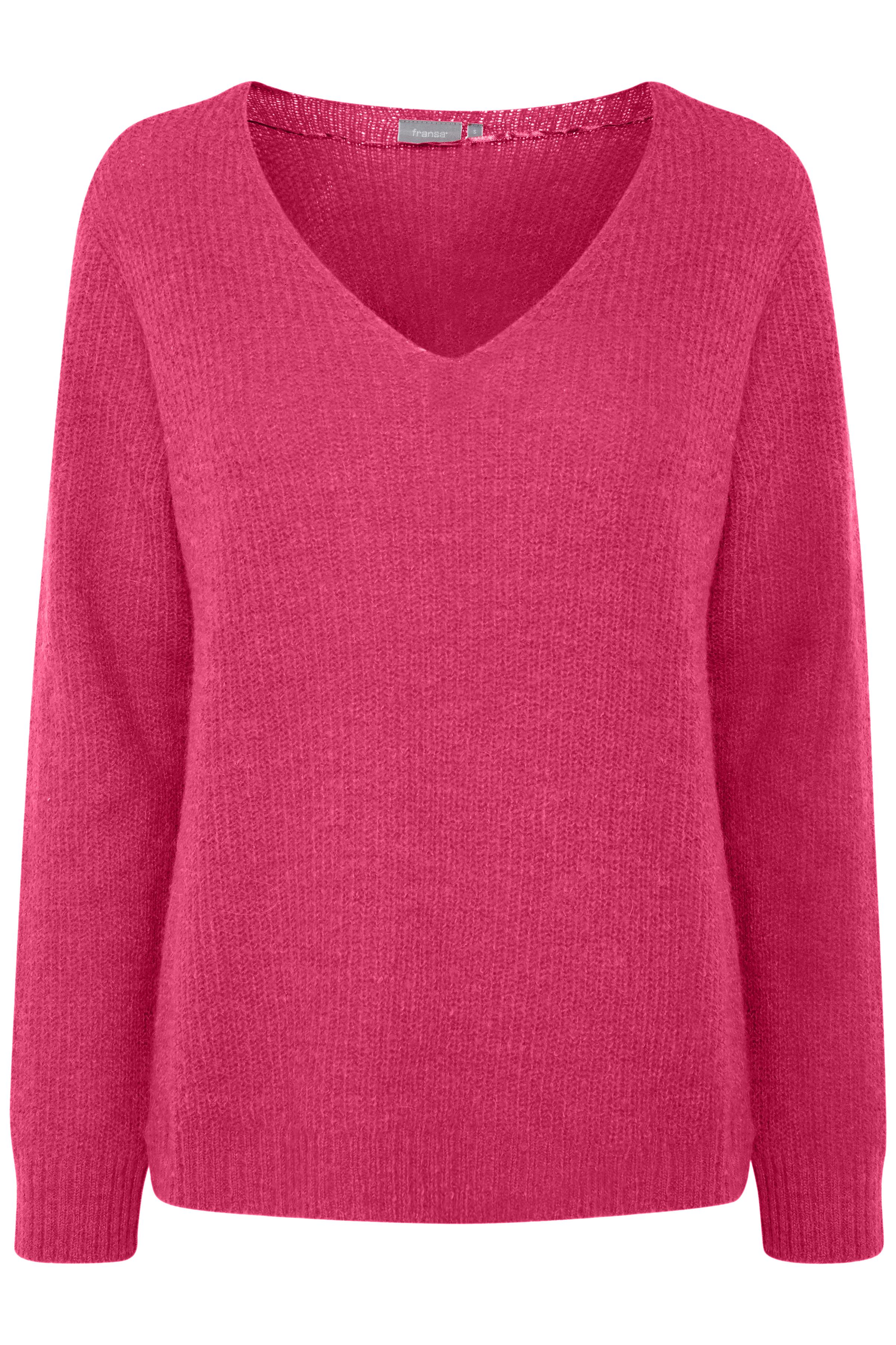 Pink Yarrow Strickpullover von Fransa – Shoppen Sie Pink Yarrow Strickpullover ab Gr. XS-XXL hier