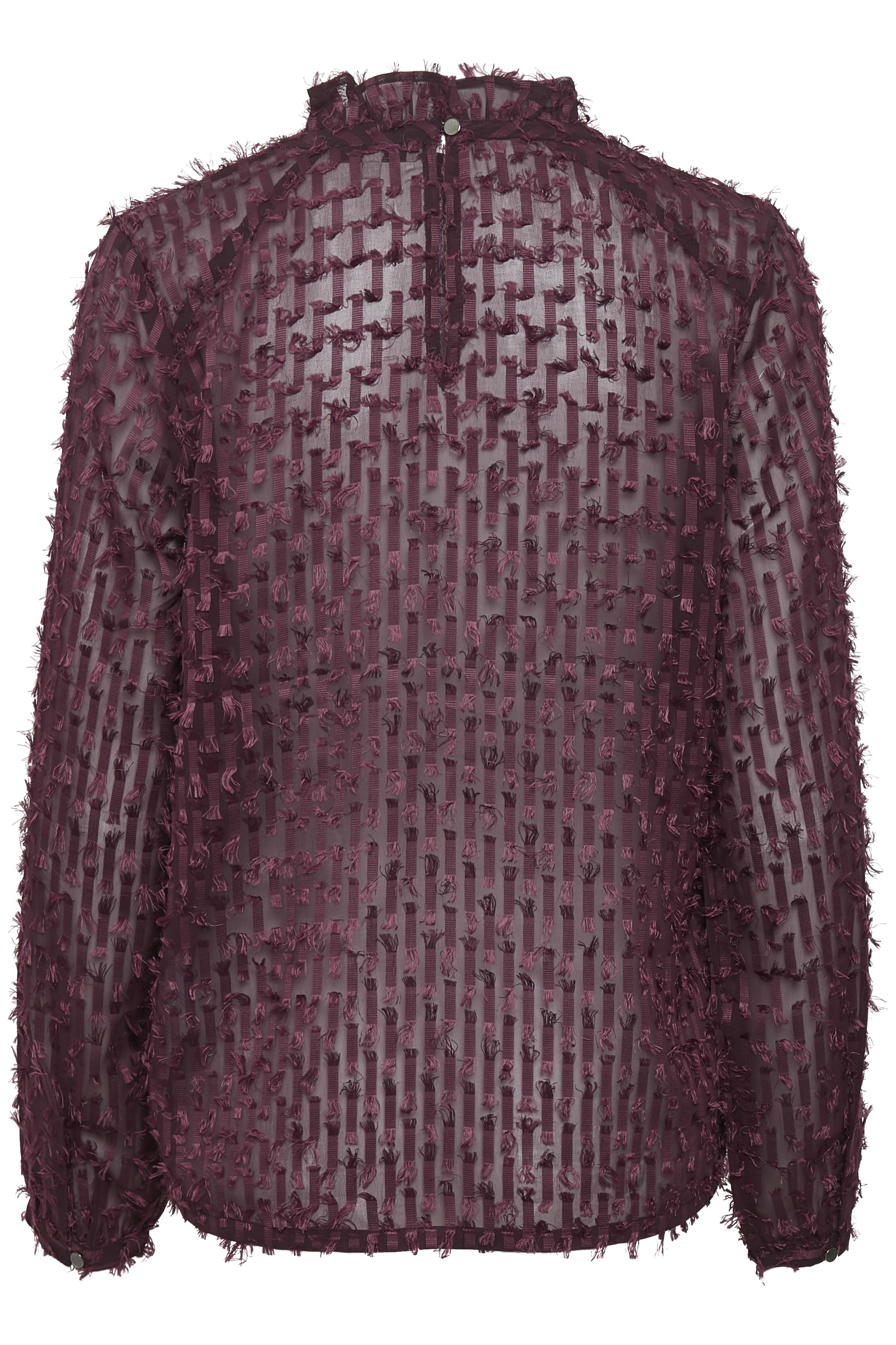 Plommon Långärmad blus från Dranella – Köp Plommon Långärmad blus från stl. XS-XXL här