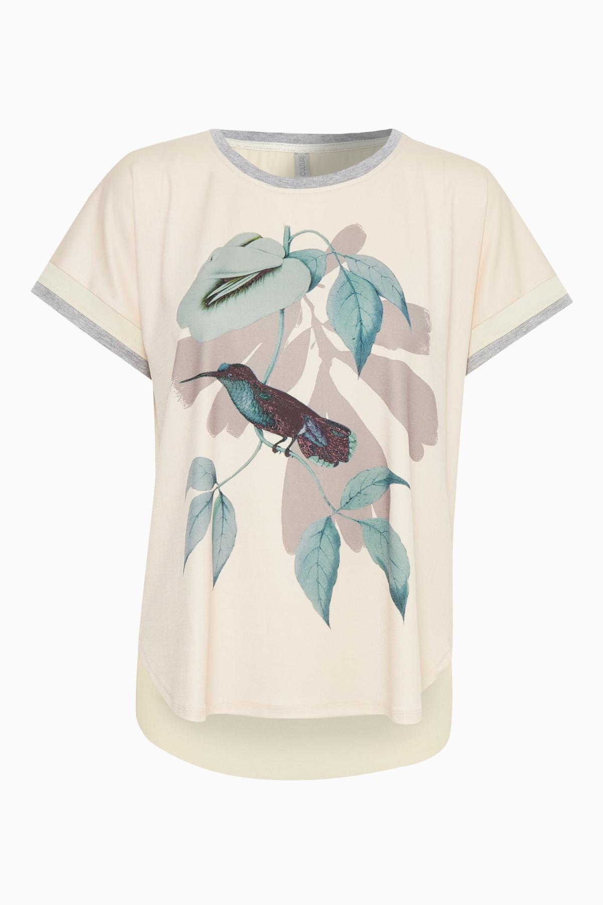 Pudder Kortærmet T-shirt fra Culture – Køb Pudder Kortærmet T-shirt fra str. XS-XXL her