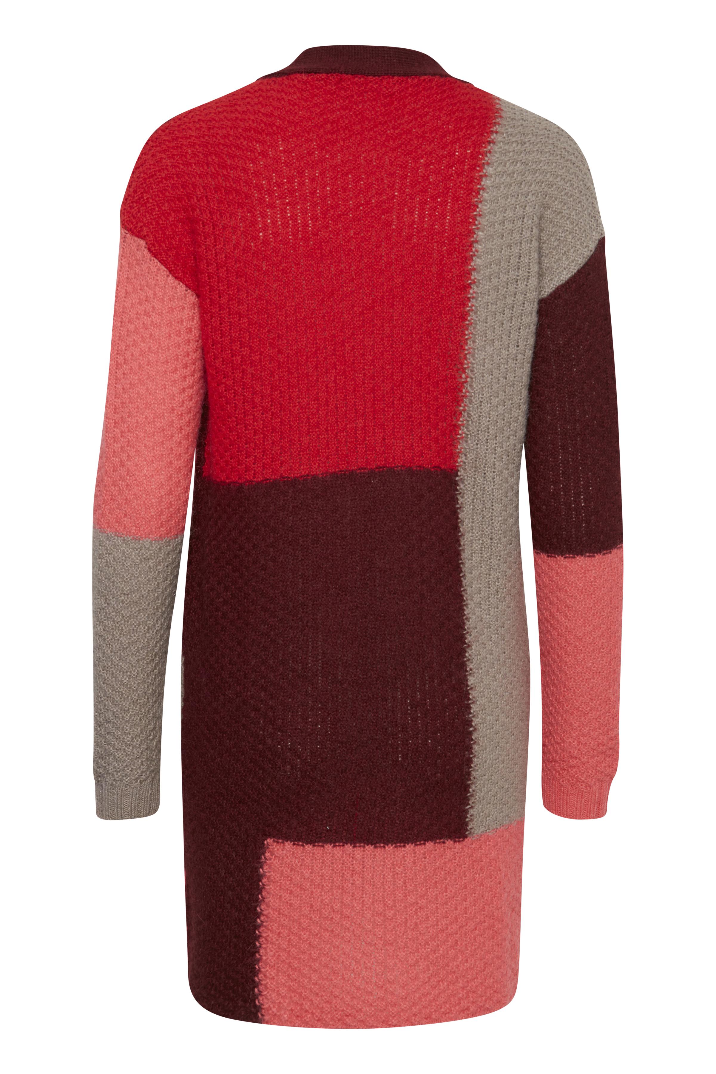 Röd/bordeaux Stickad cardigan från Fransa – Köp Röd/bordeaux Stickad cardigan från stl. XS-XXL här