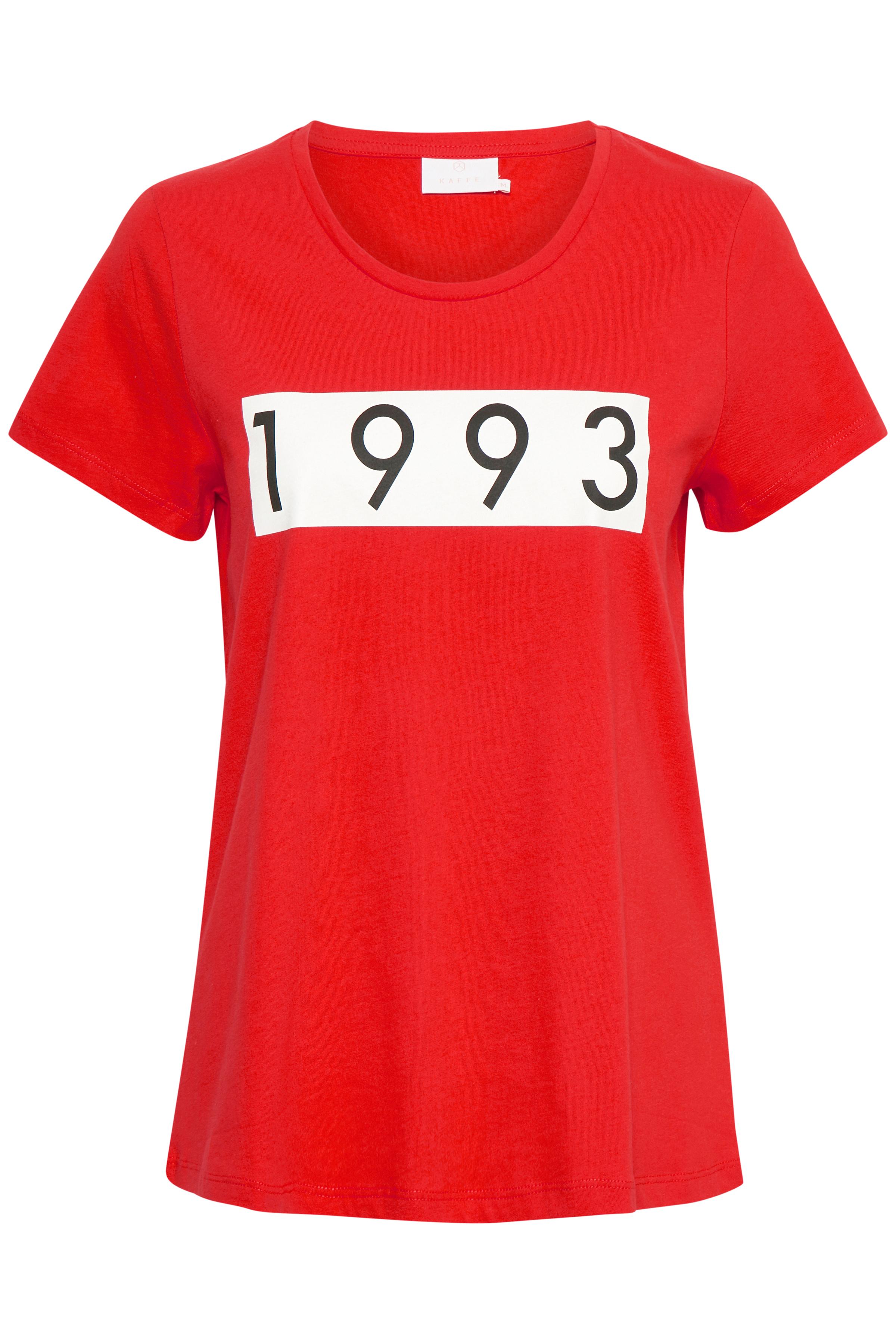 Röd Kortärmad T-shirt från Kaffe – Köp Röd Kortärmad T-shirt från stl. XS-XXL här