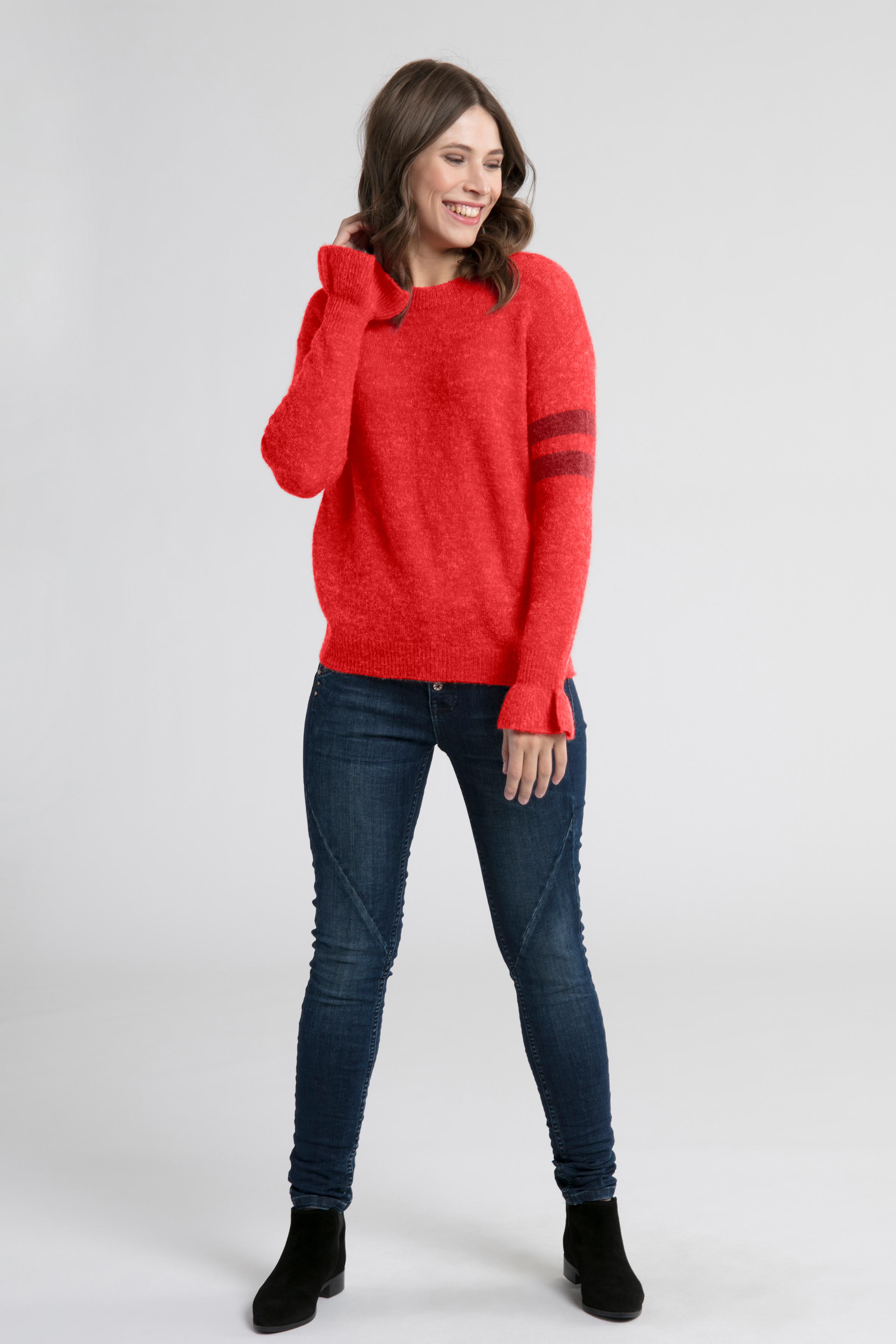 Röd Stickad pullover från Kaffe – Köp Röd Stickad pullover från stl. XS-XXL här