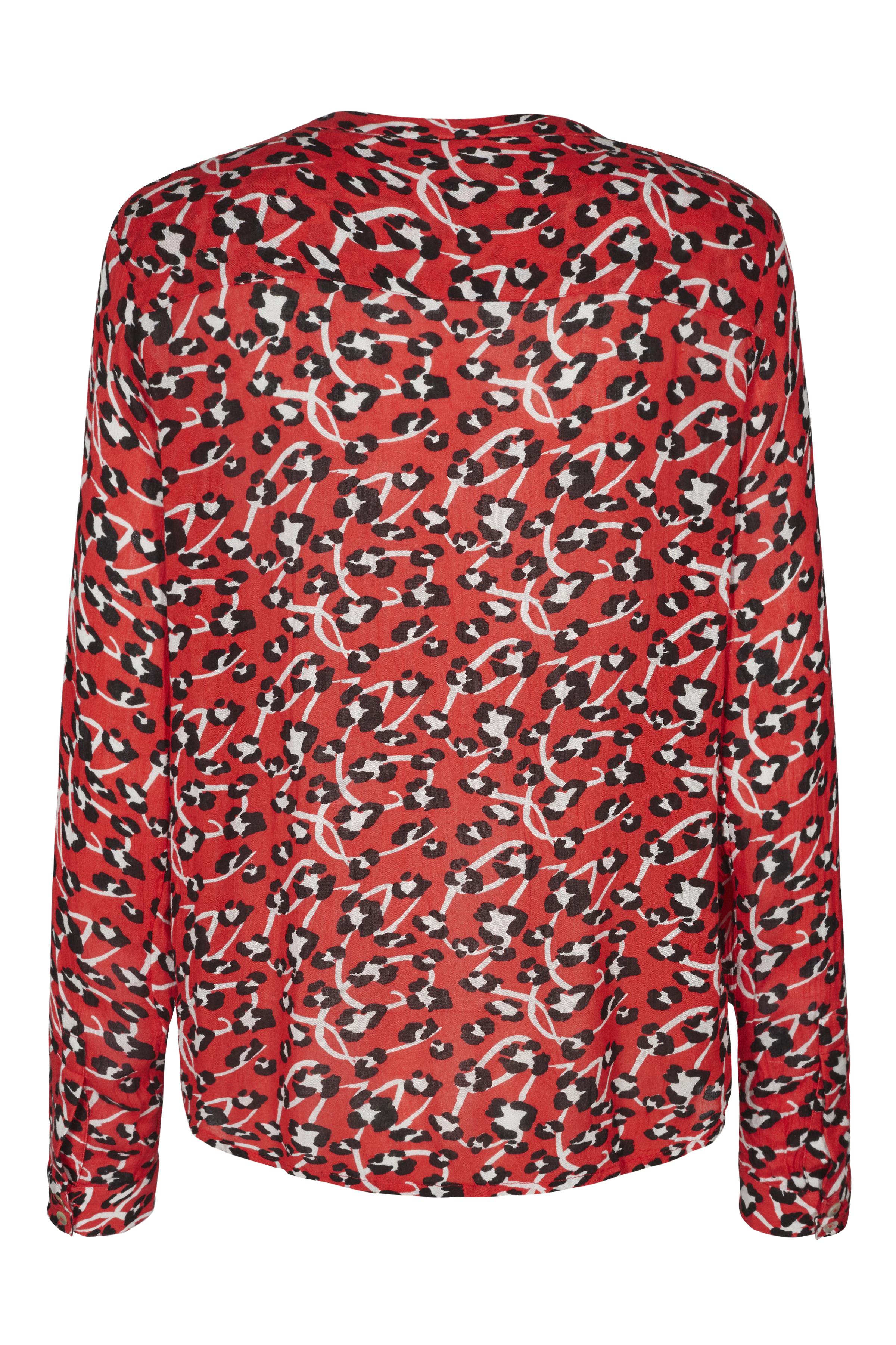 Röd/svart Långärmad skjorta från Kaffe – Köp Röd/svart Långärmad skjorta från stl. 34-46 här