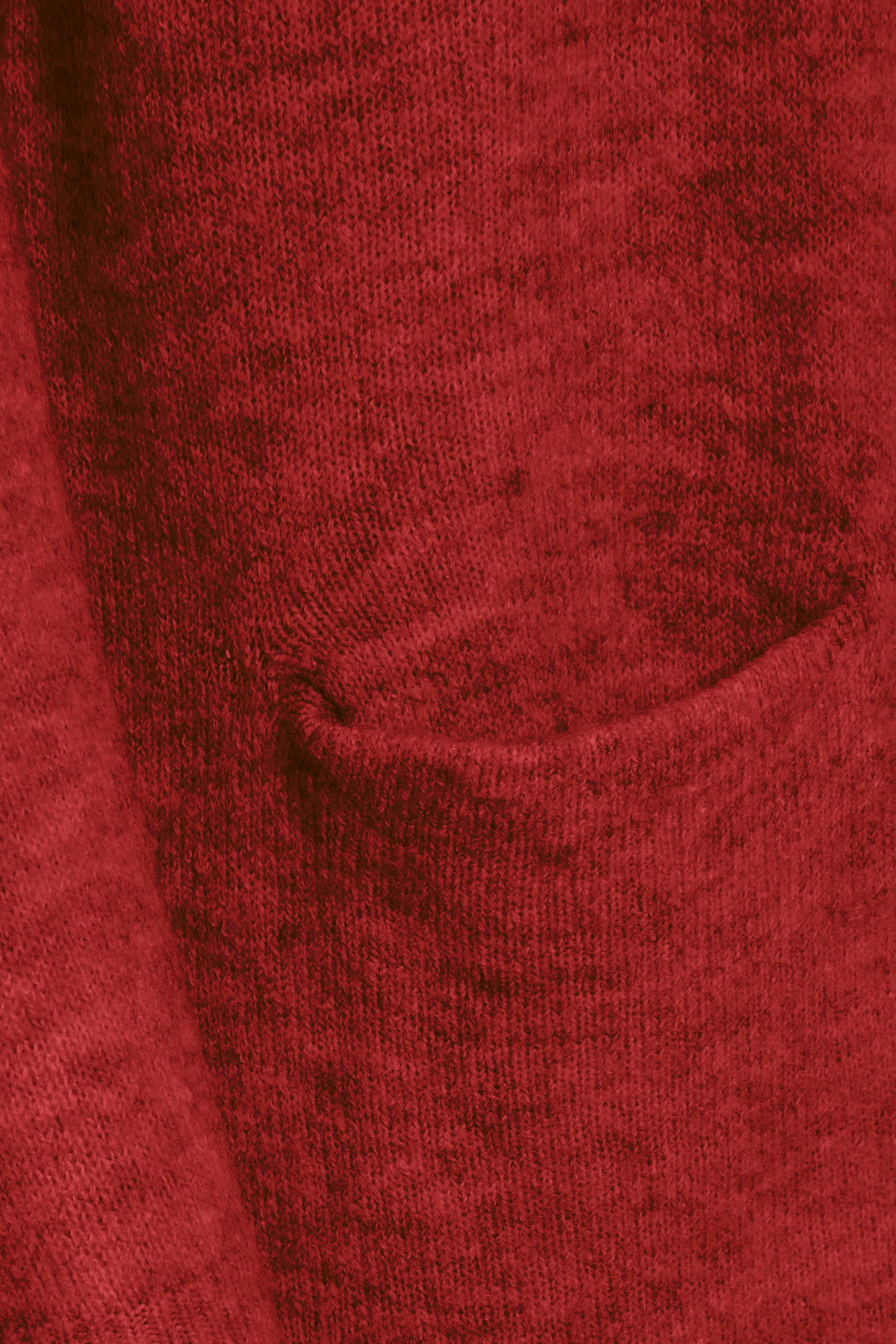 Rödmelerad Stickad cardigan från Fransa – Köp Rödmelerad Stickad cardigan från stl. XS-XXL här