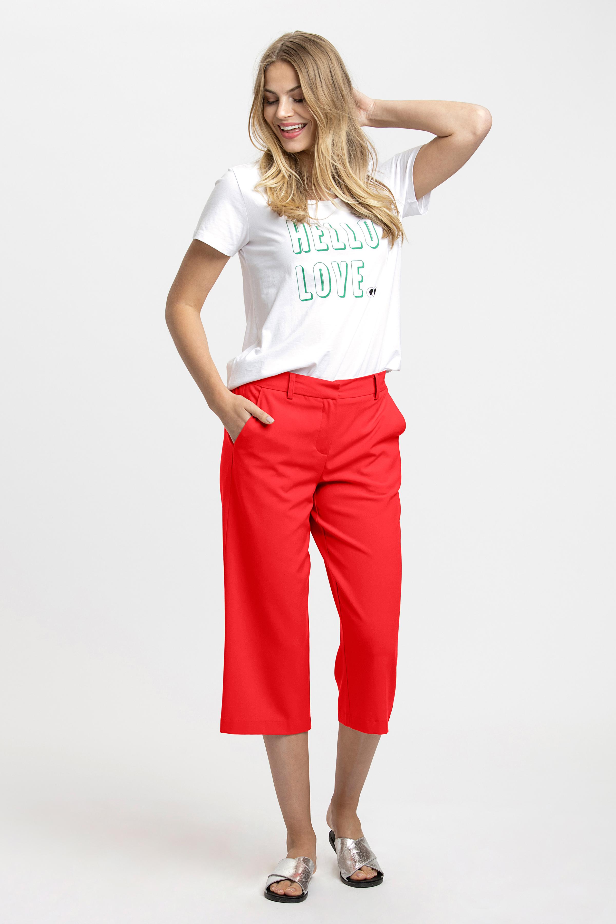 Rød Casual bukser fra b.young – Køb Rød Casual bukser fra str. 34-46 her