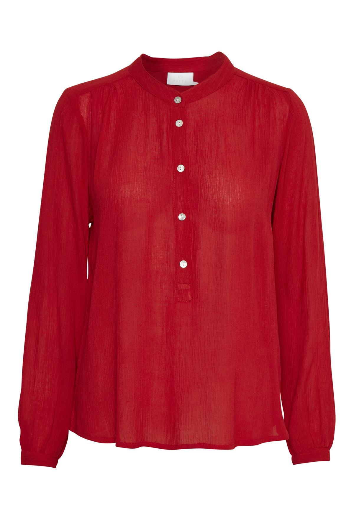 Rød Langærmet bluse fra Kaffe – Køb Rød Langærmet bluse fra str. 34-46 her