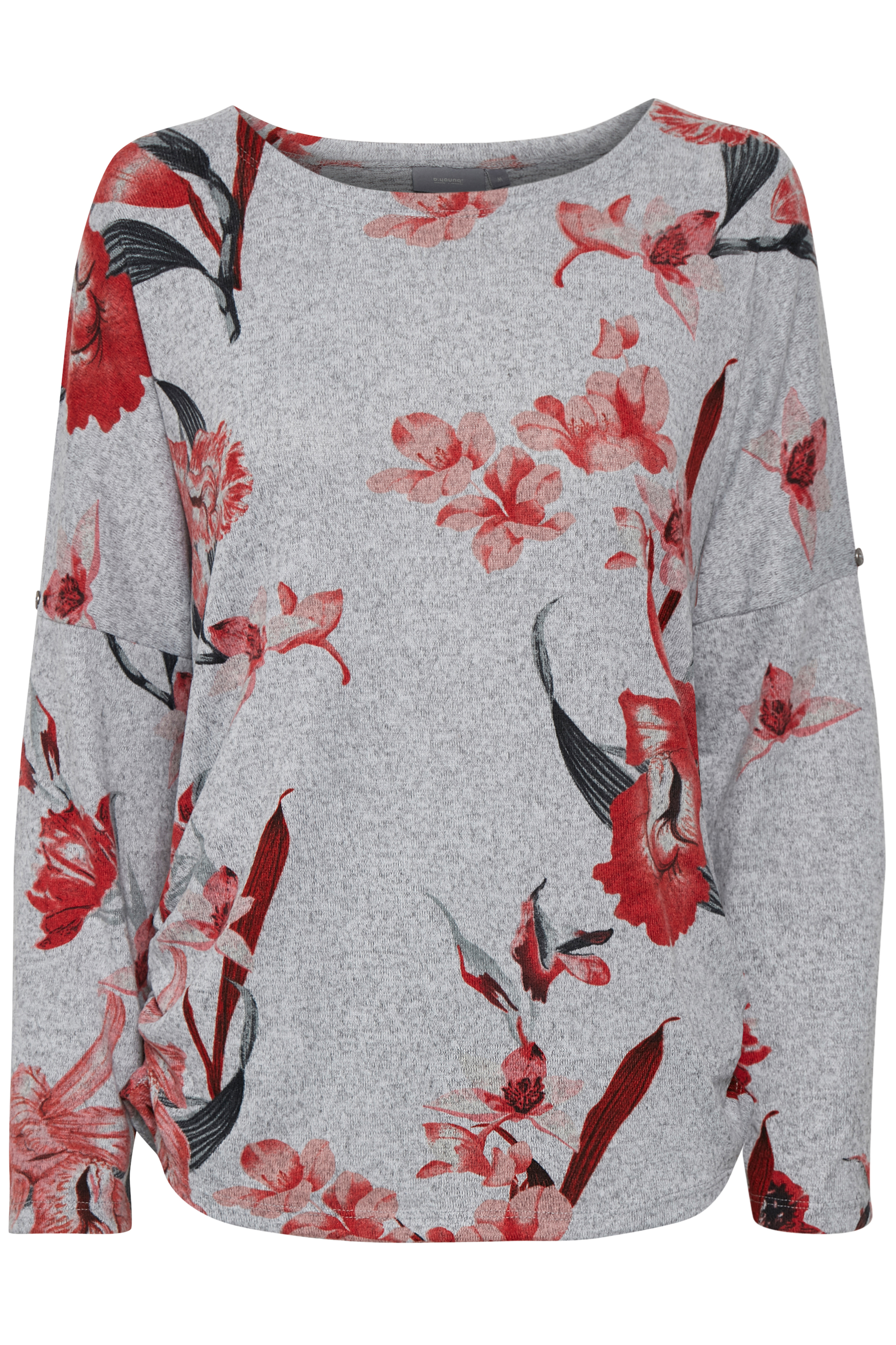 b.young Dame Jersey bluse  - Rød
