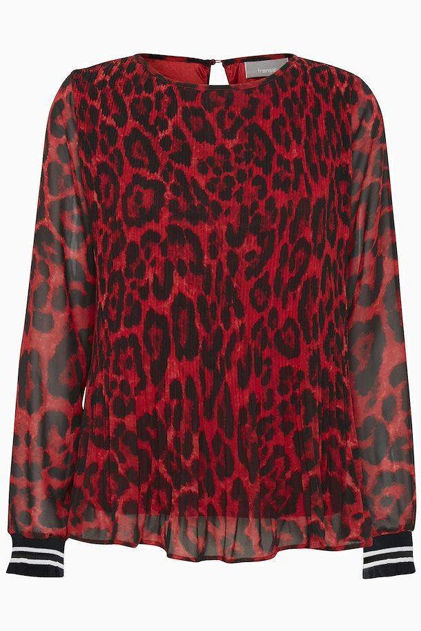 6a1f2ca547ce Rød sort Langærmet bluse fra Fransa – Køb Rød sort Langærmet bluse fra str.  XS-XXL her