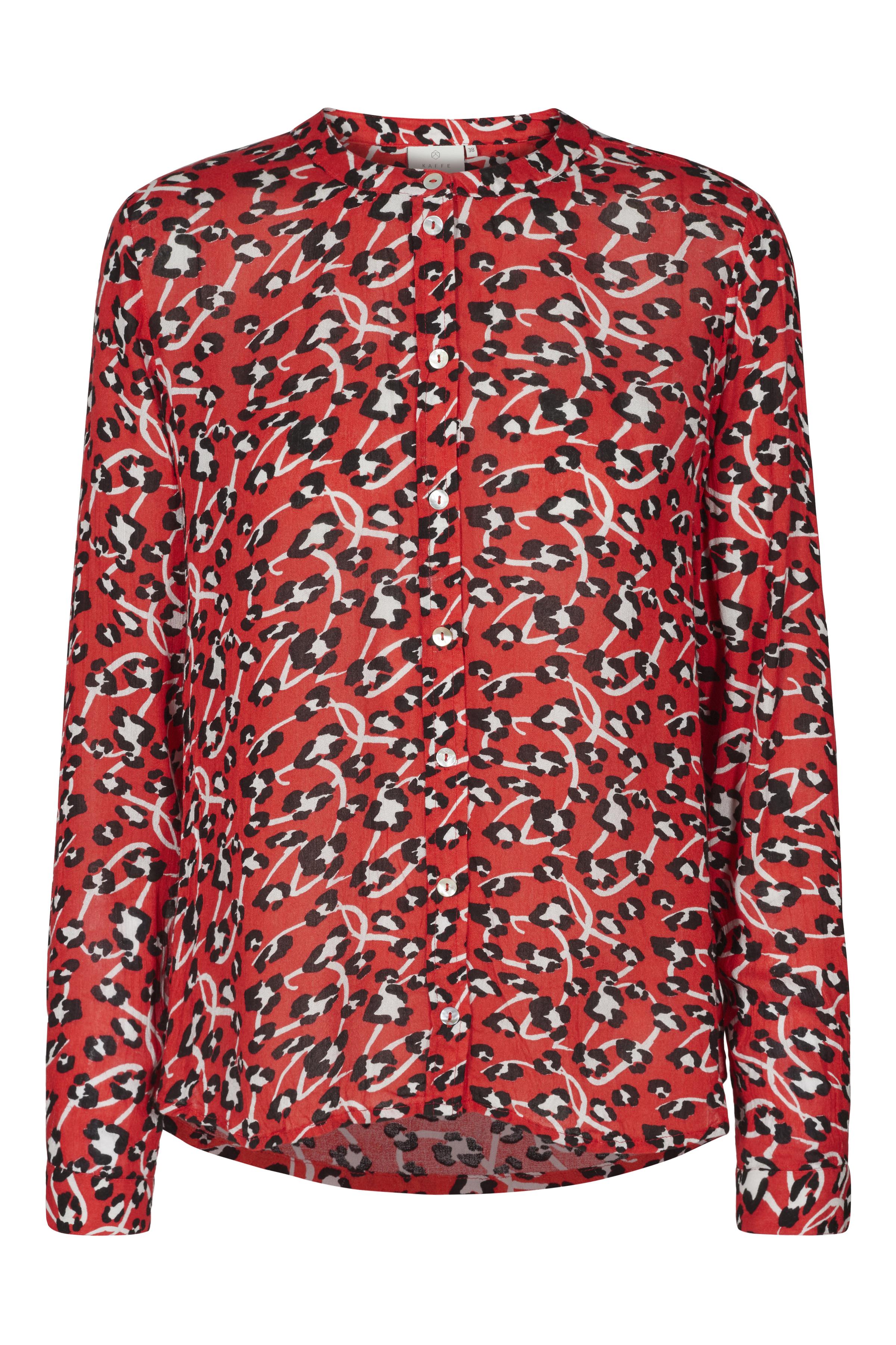 Rød/sort Langærmet skjorte fra Kaffe – Køb Rød/sort Langærmet skjorte fra str. 34-46 her