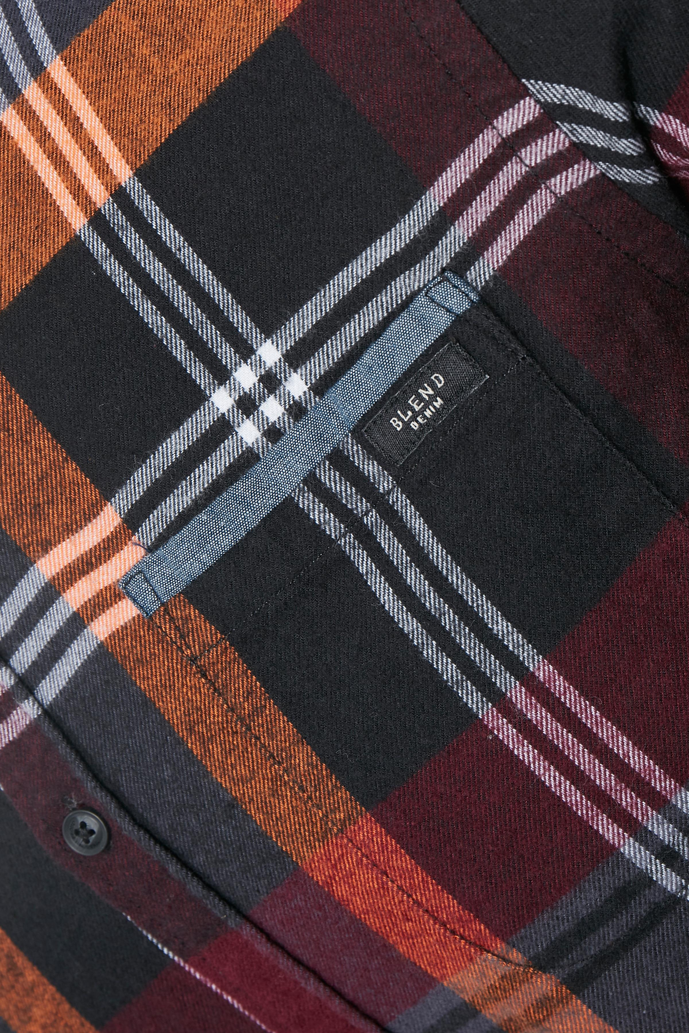 Rødorange Langærmet skjorte fra Blend He – Køb Rødorange Langærmet skjorte fra str. S-3XL her
