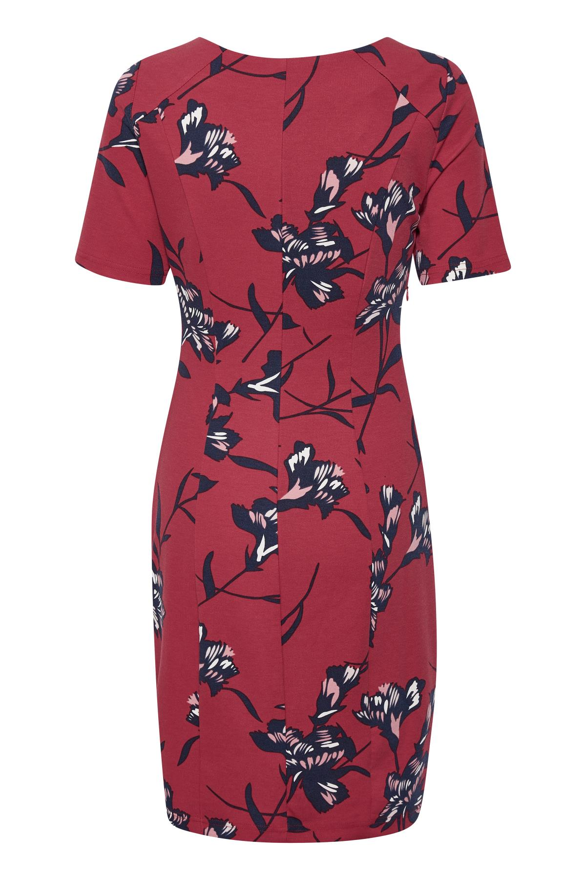 Rood/marineblauw Gebreide jurk van Kaffe – Door Rood/marineblauw Gebreide jurk van maat. XS-XXL hier