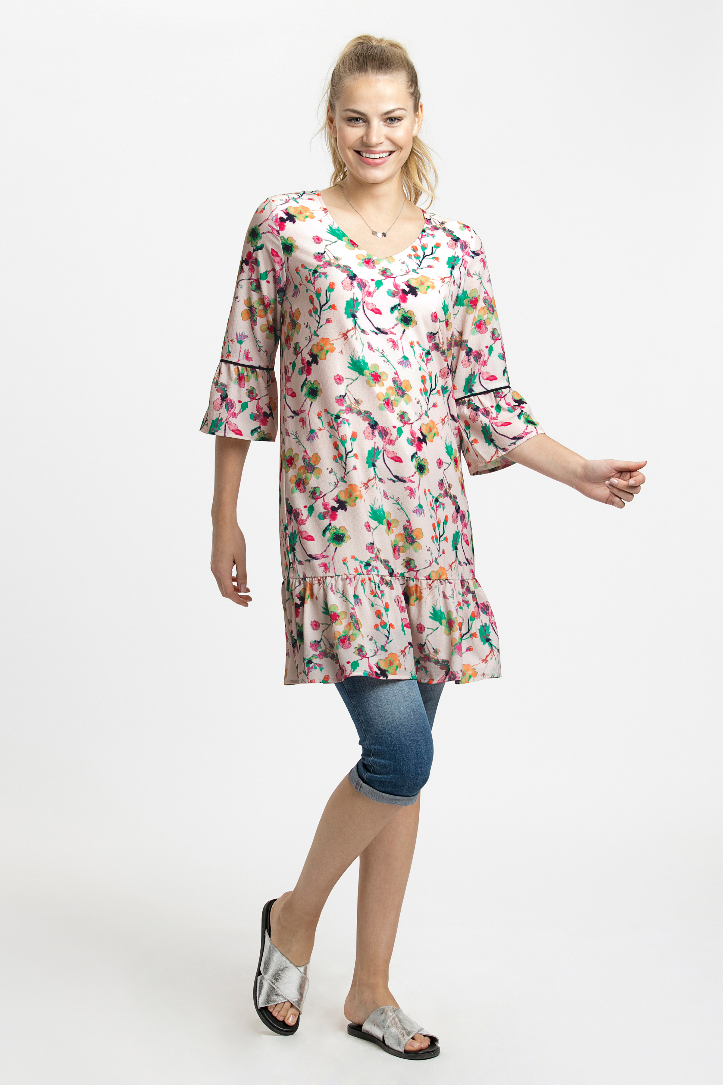 Rosa/grün Kleid von Kaffe – Shoppen Sie Rosa/grün Kleid ab Gr. 34-46 hier