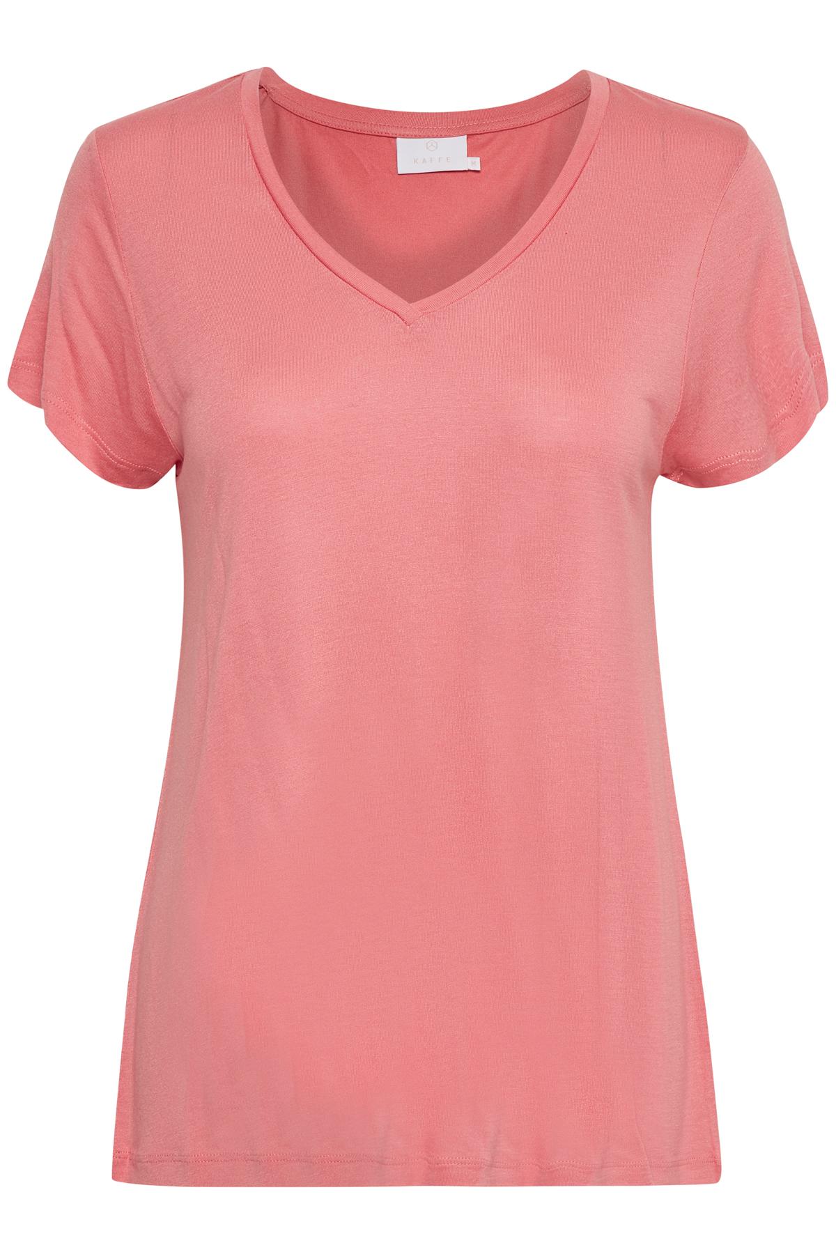 Rosa Kurzarm T-Shirt von Kaffe – Shoppen Sie Rosa Kurzarm T-Shirt ab Gr. XS-XXL hier