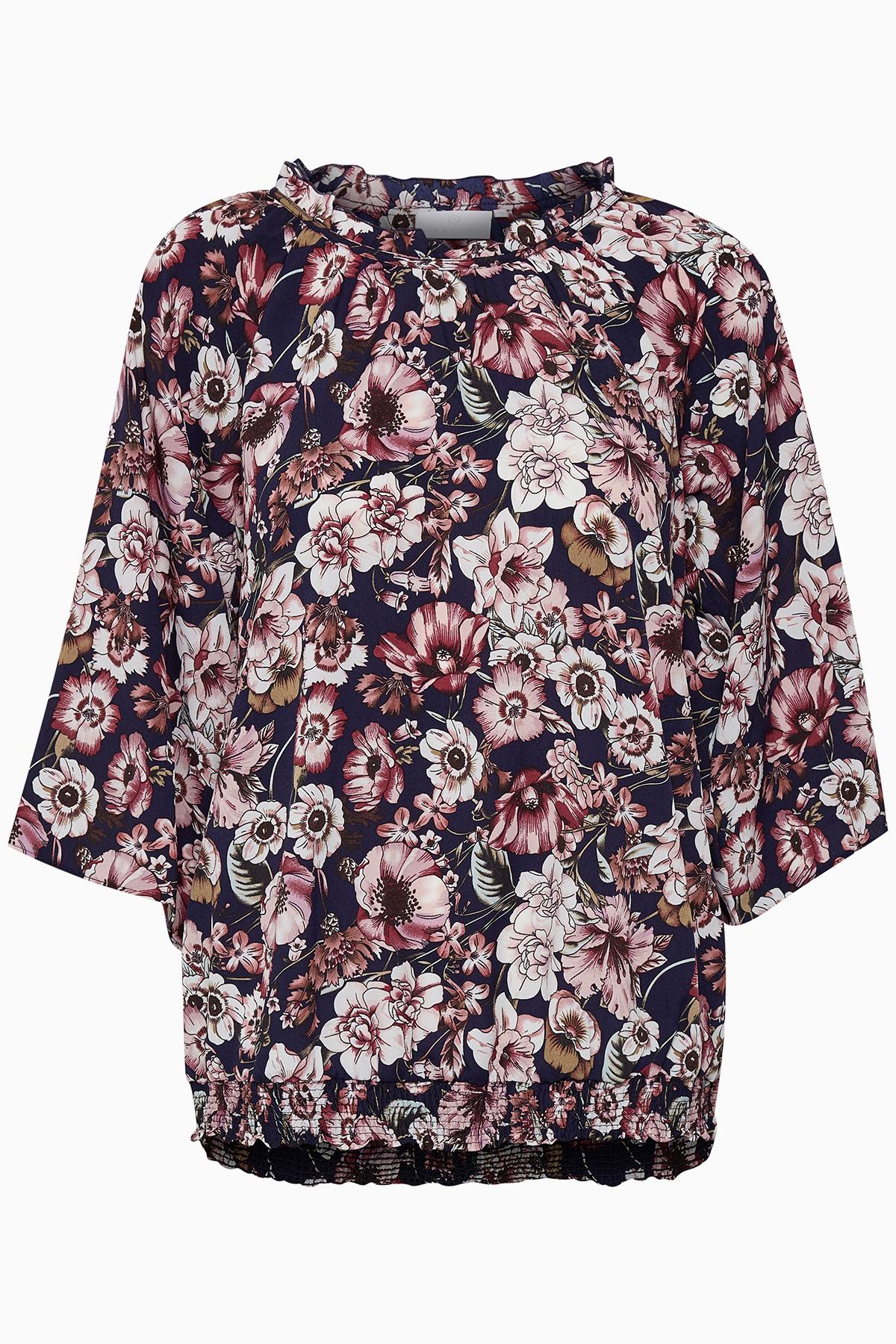 Rosa/marineblå Langærmet bluse fra Kaffe – Køb Rosa/marineblå Langærmet bluse fra str. 34-46 her