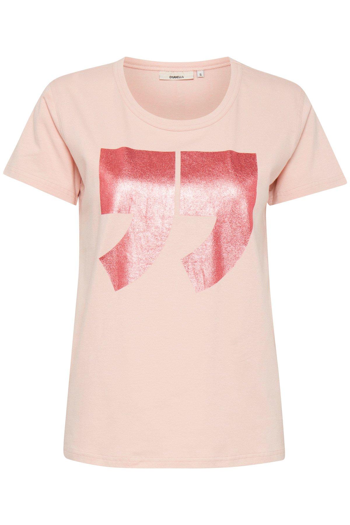 Rosa/pink Kortærmet T-shirt fra Dranella – Køb Rosa/pink Kortærmet T-shirt fra str. XS-XXL her