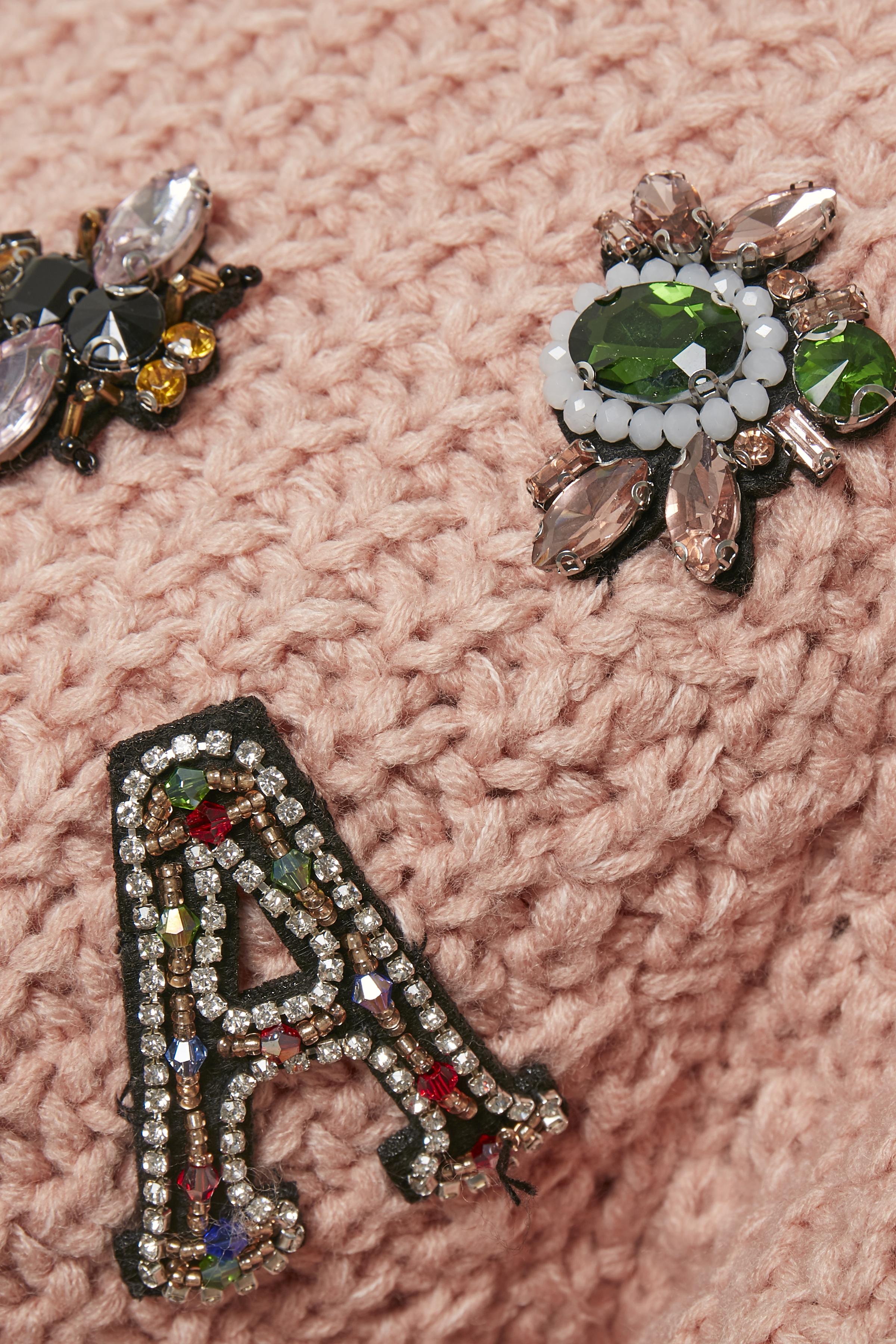 Rosamelerad Stickad pullover från Bon'A Parte – Köp Rosamelerad Stickad pullover från stl. S-2XL här