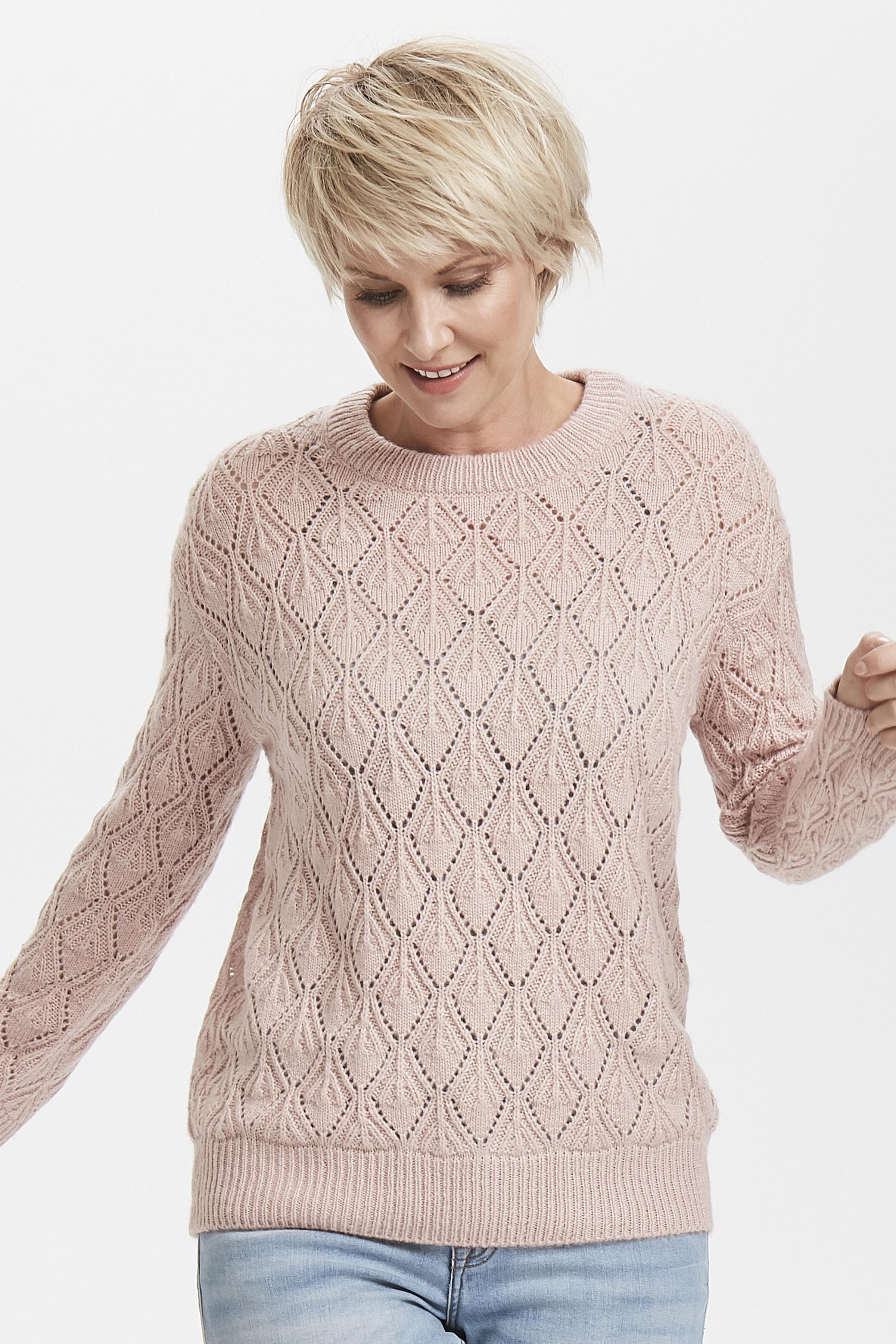 Roze Gebreide trui van Kaffe – Door Roze Gebreide trui van maat. XS-XXL hier