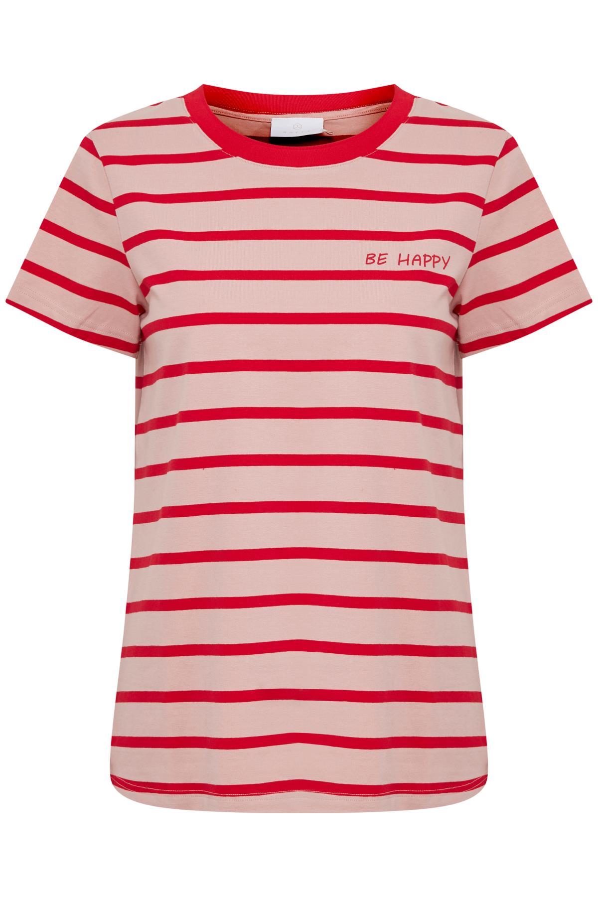 Roze/rood T-shirt korte mouw van Kaffe – Door Roze/rood T-shirt korte mouw van maat. XS-XXL hier