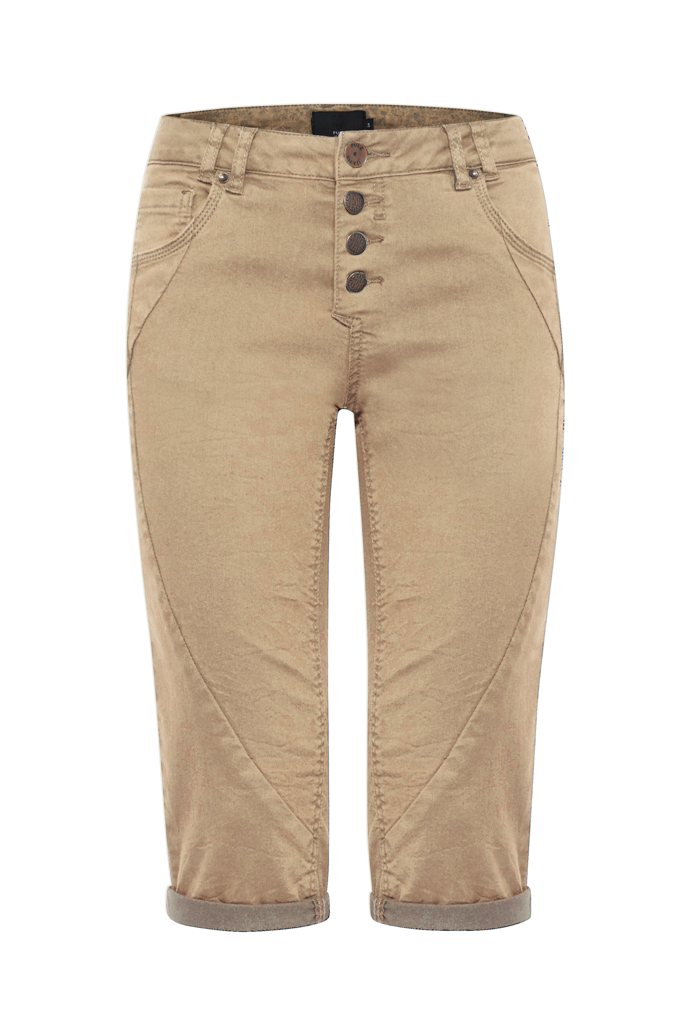 Image of Pulz Jeans Dame Capribukser - Sand