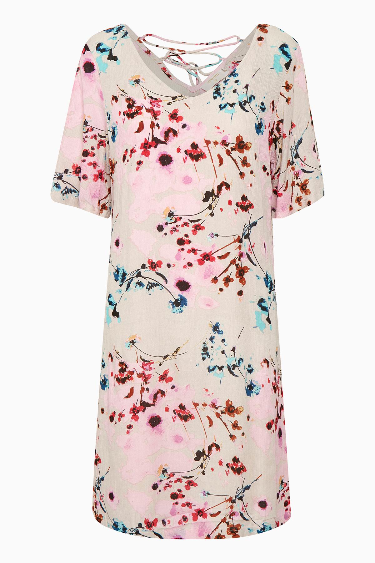 Cream Dame Flot Alison kjole - Sand