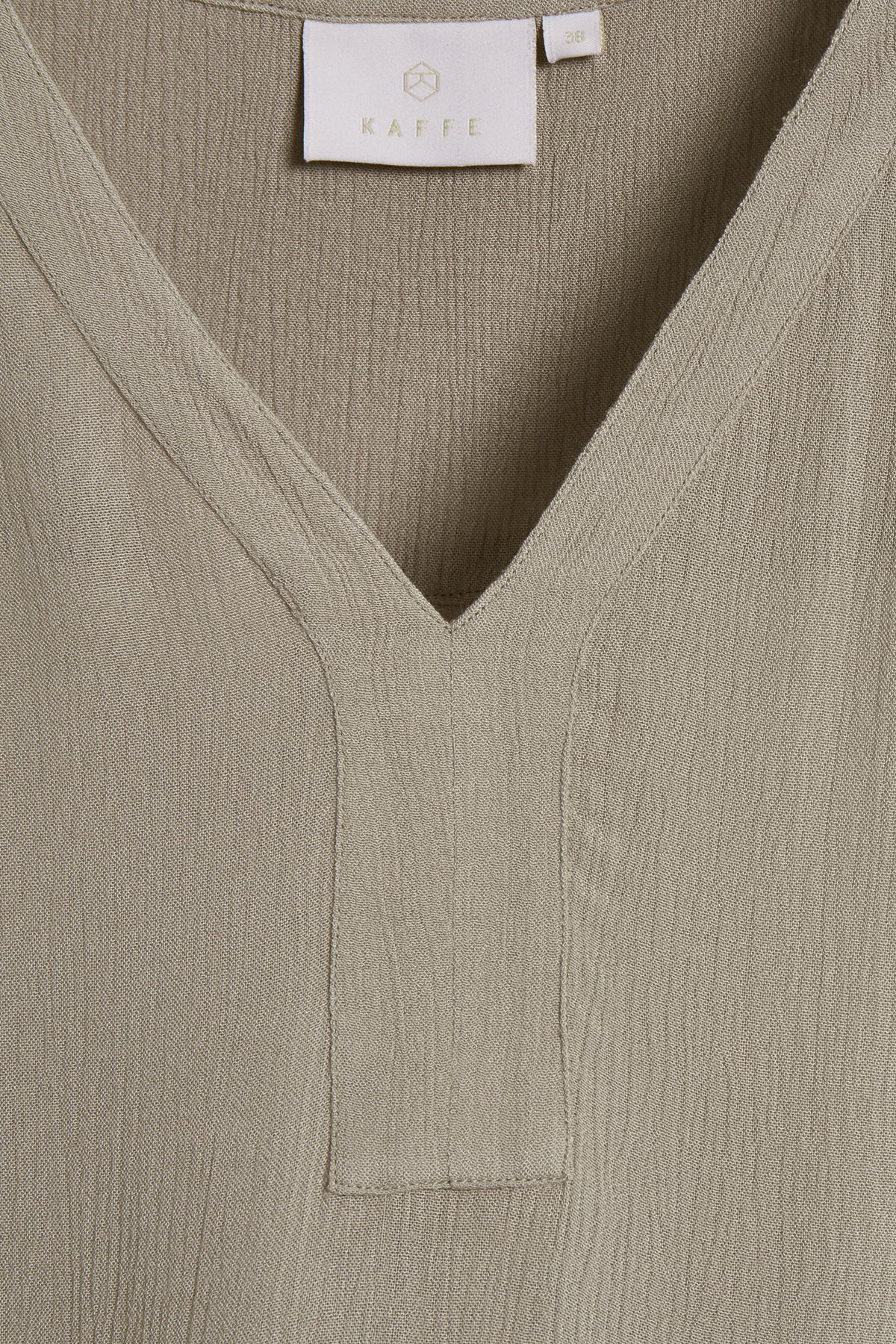 Sand Langærmet bluse fra Kaffe – Køb Sand Langærmet bluse fra str. 34-46 her