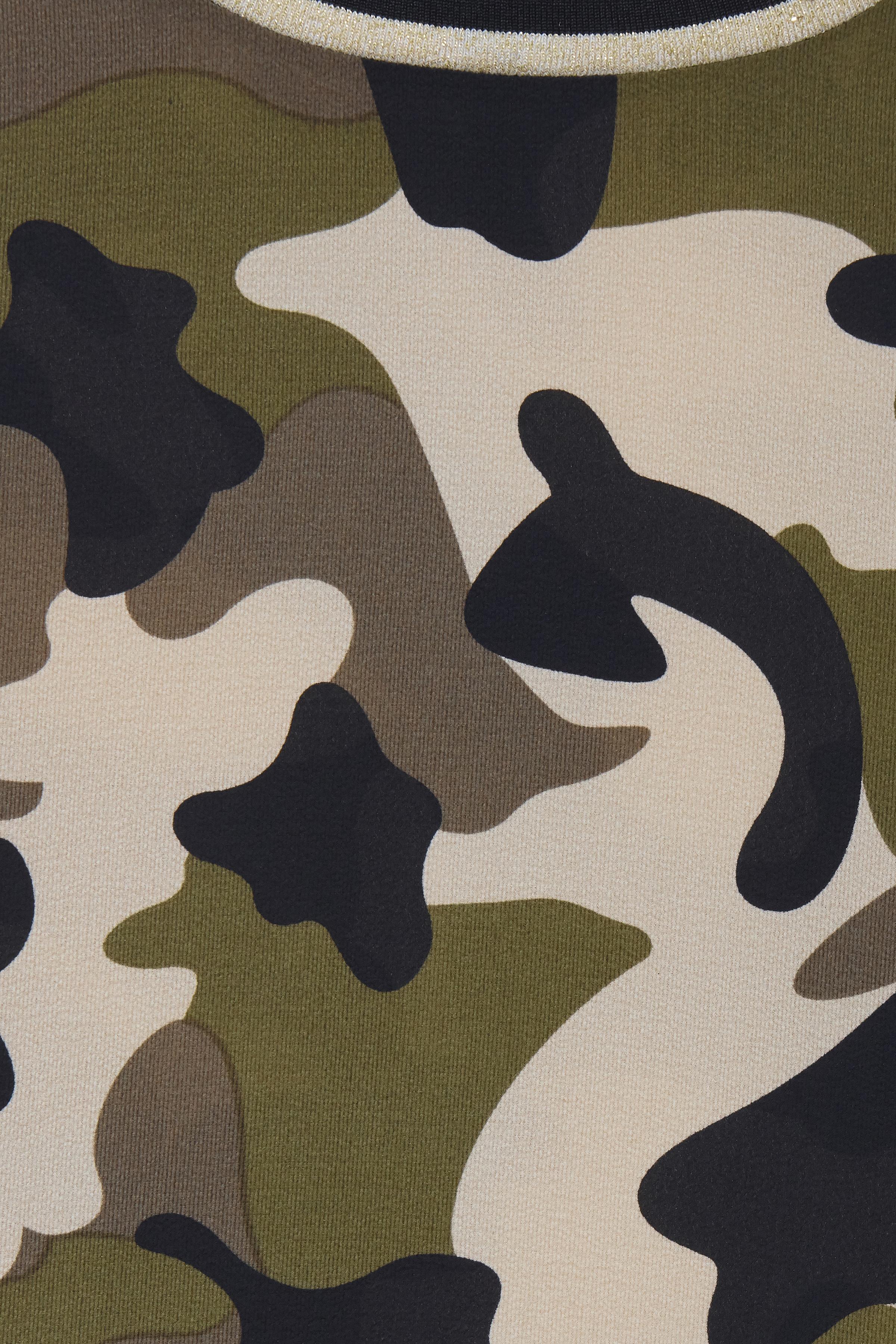 Sand/olivengrøn Langærmet bluse fra b.young – Køb Sand/olivengrøn Langærmet bluse fra str. 34-46 her