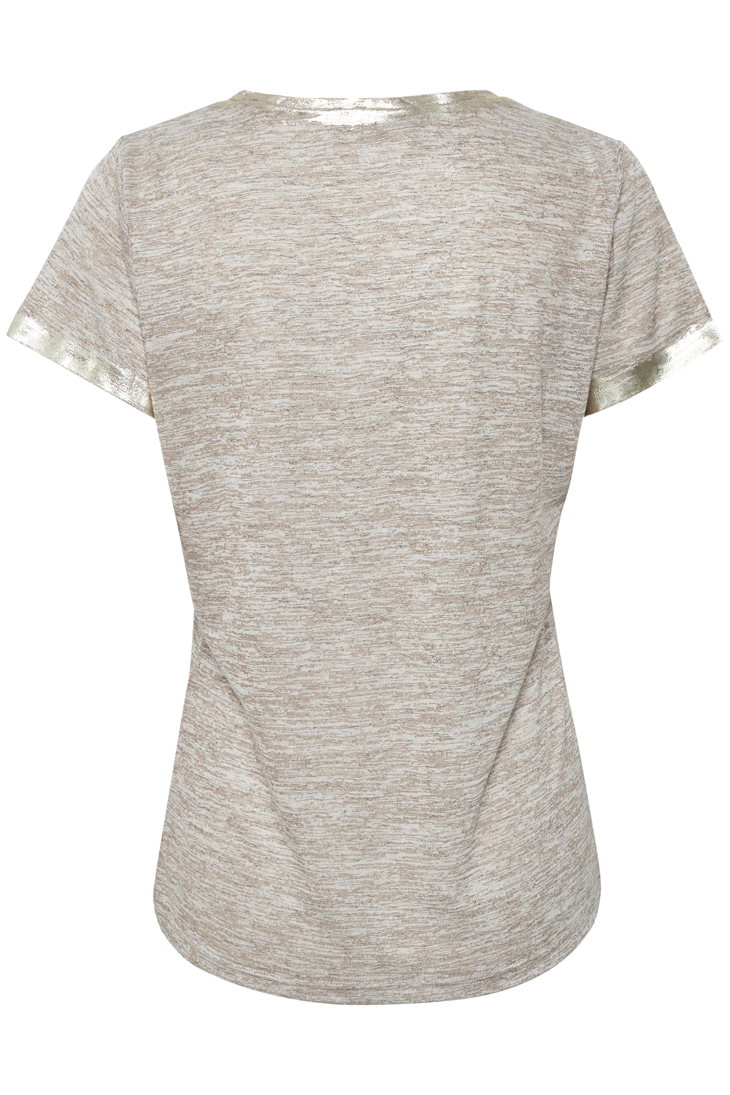 Sandmelerad Kortärmad T-shirt från Cream – Köp Sandmelerad Kortärmad T-shirt från stl. XS-XXL här