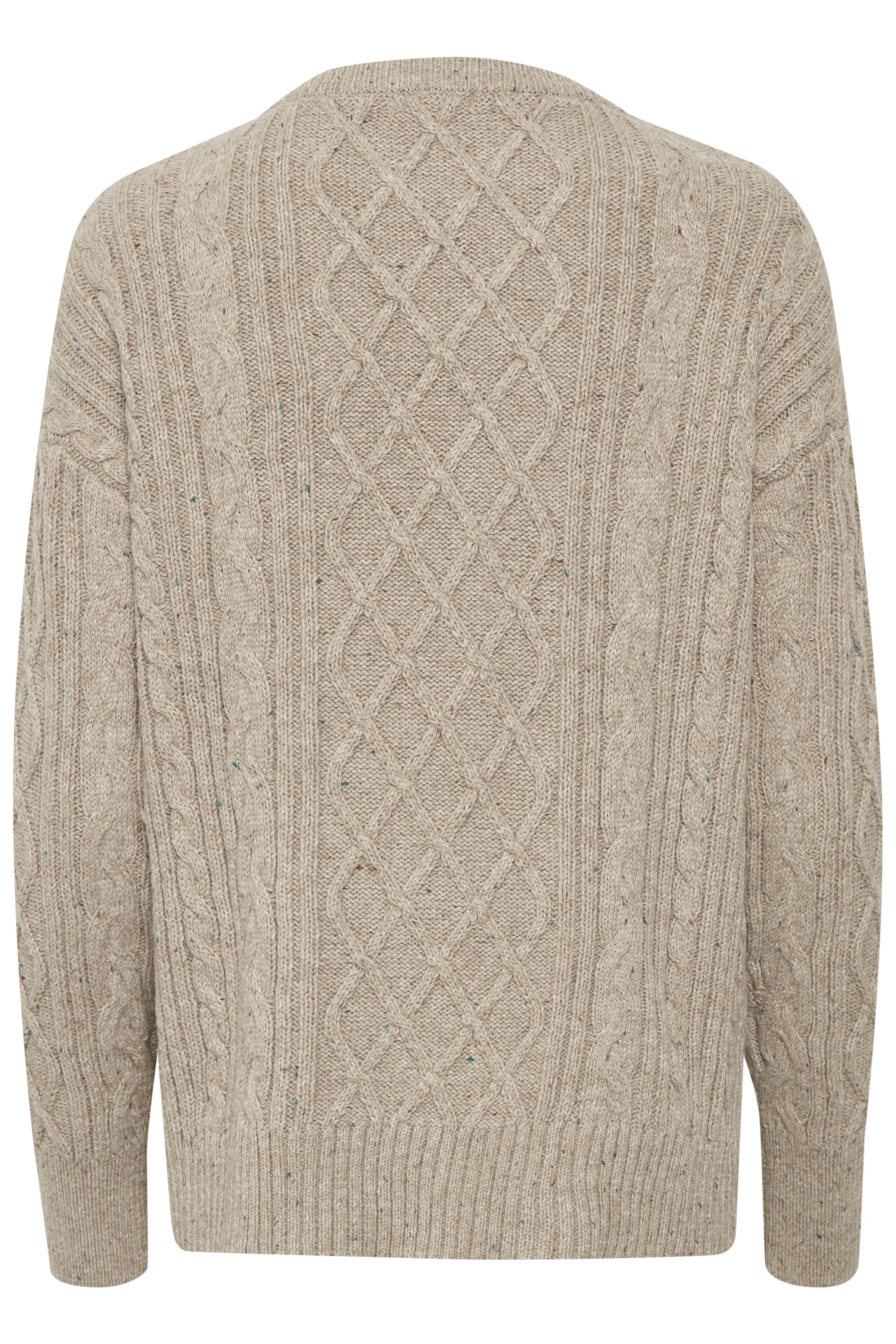 Sandmelerad Stickad pullover från Bon'A Parte – Köp Sandmelerad Stickad pullover från stl. S-2XL här