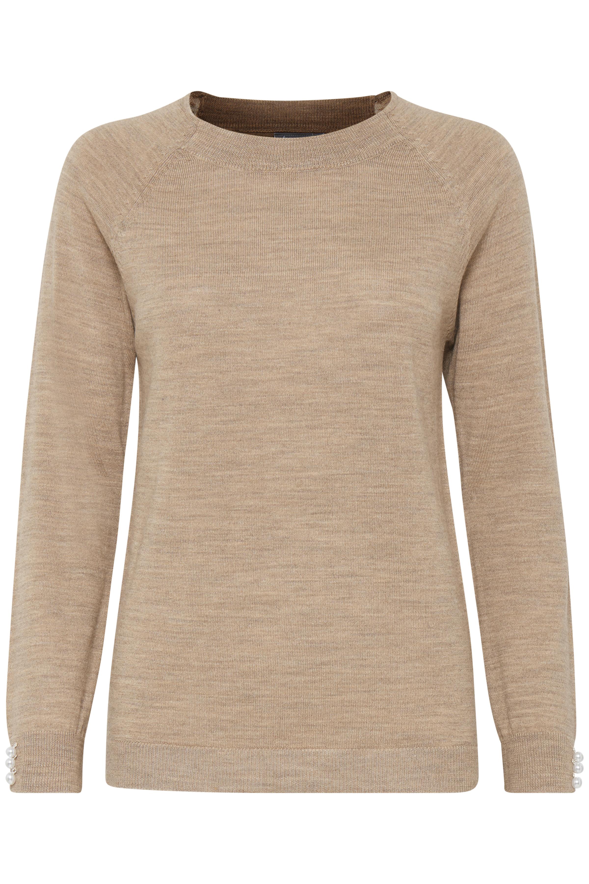 Sandmelerad Stickad pullover från Fransa – Köp Sandmelerad Stickad pullover från stl. XS-XXL här