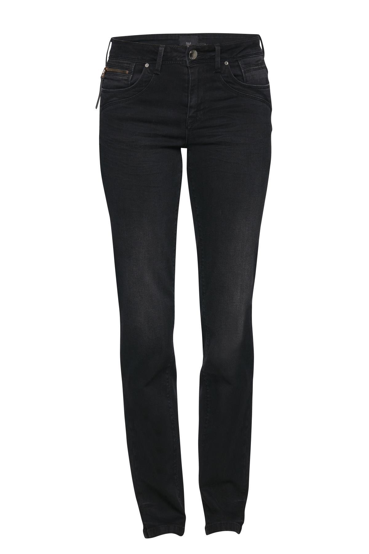 Schwarz denim Jeans von Pulz Jeans – Shoppen Sie Schwarz denim Jeans ab Gr. 25-35 hier