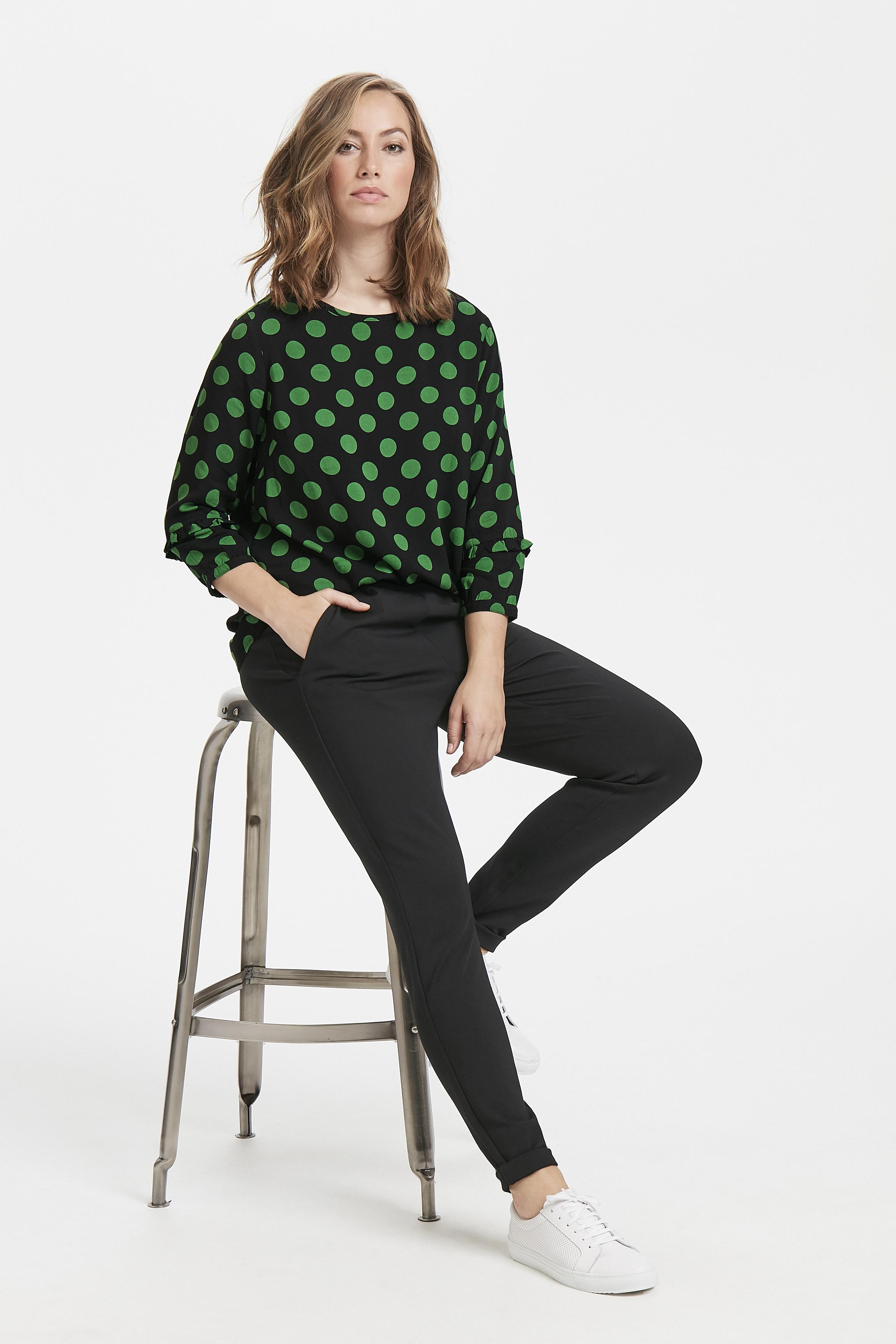 Schwarz/dunkelgrün Kurzarm-Bluse von Fransa – Shoppen Sie Schwarz/dunkelgrün Kurzarm-Bluse ab Gr. XS-XXL hier