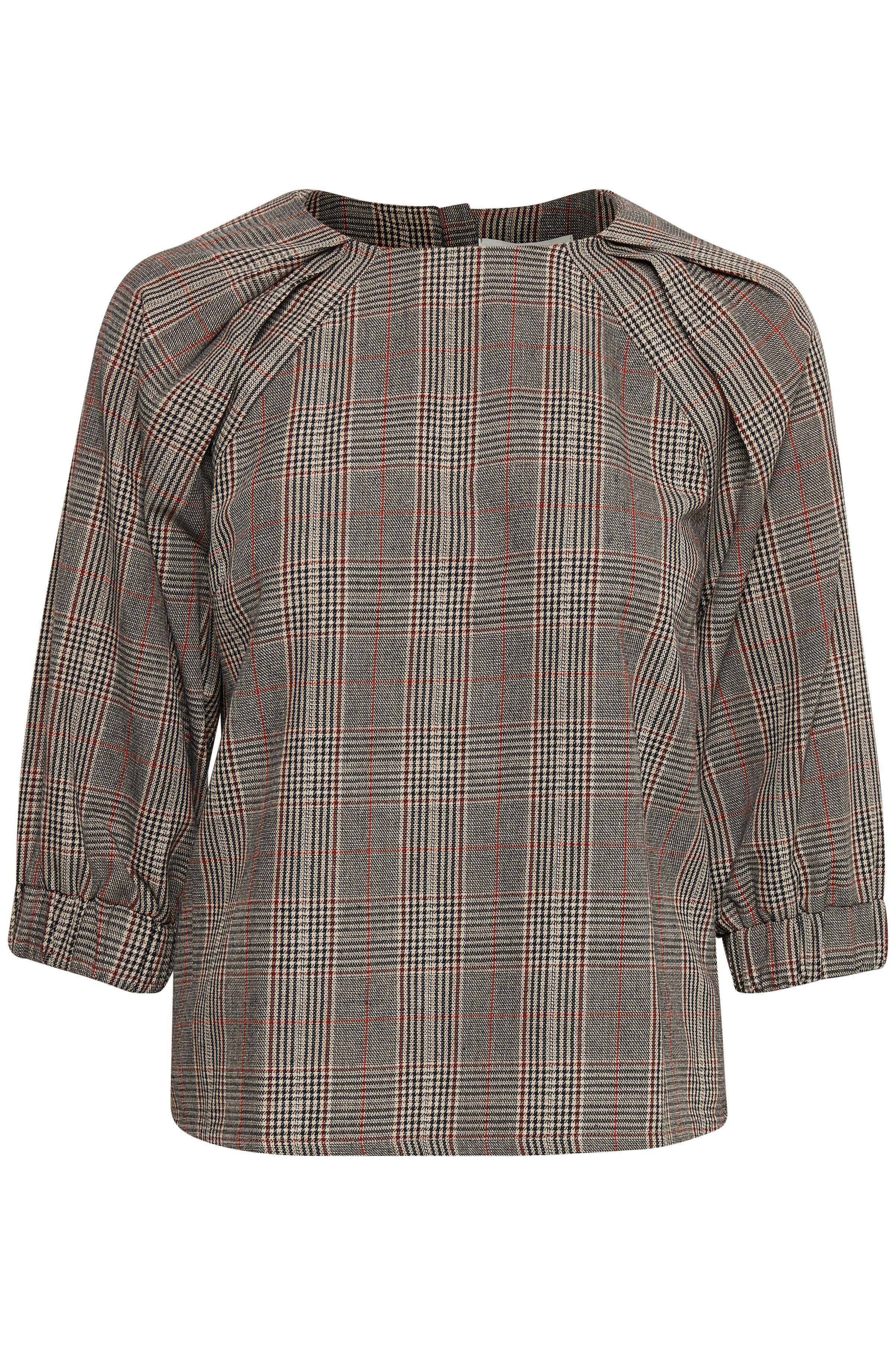 Schwarz/gebranntes rot Langarm-Bluse von Denim Hunter – Shoppen Sie Schwarz/gebranntes rot Langarm-Bluse ab Gr. 34-46 hier