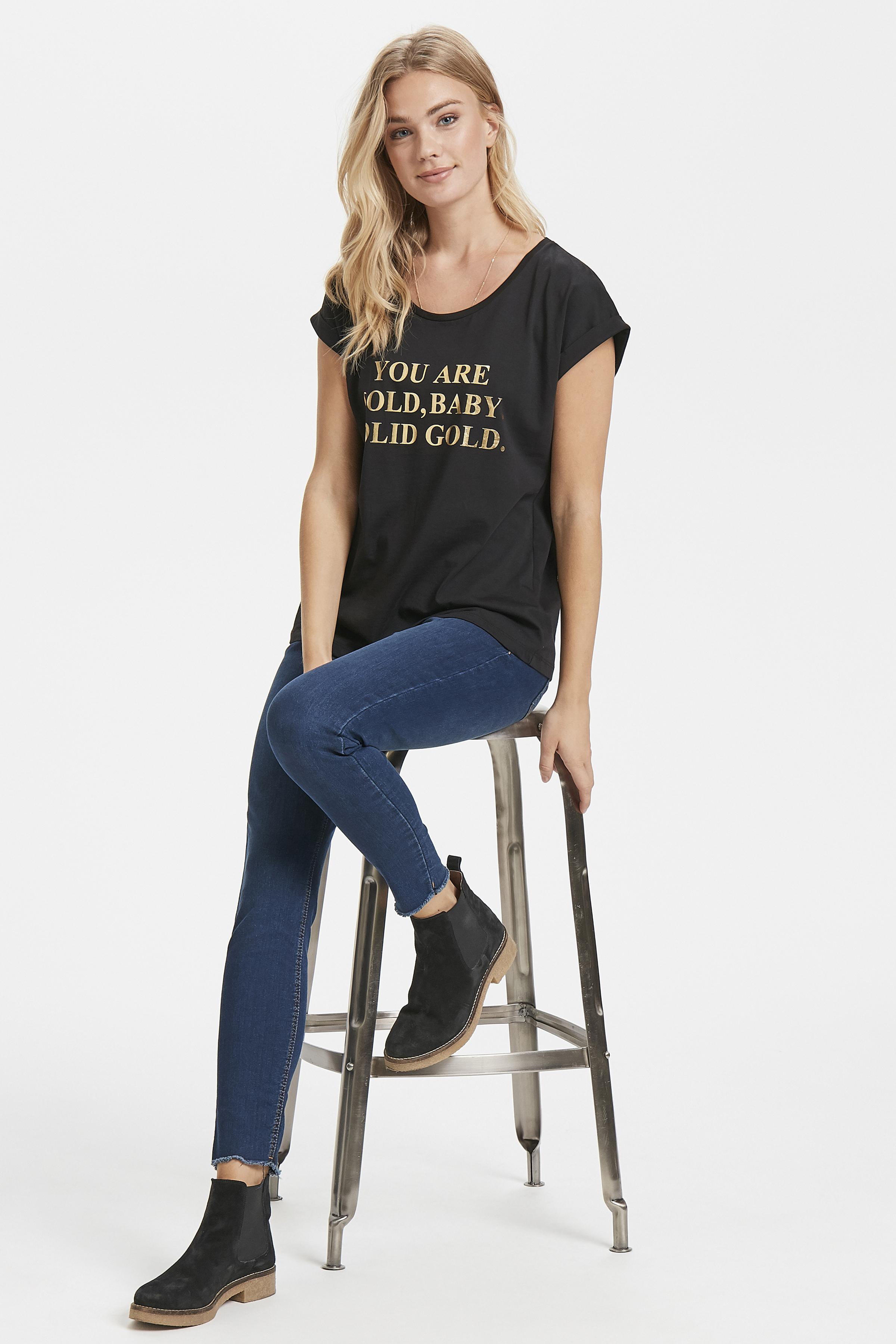 Schwarz/gold Kurzarm T-Shirt von Kaffe – Shoppen SieSchwarz/gold Kurzarm T-Shirt ab Gr. XS-XXL hier