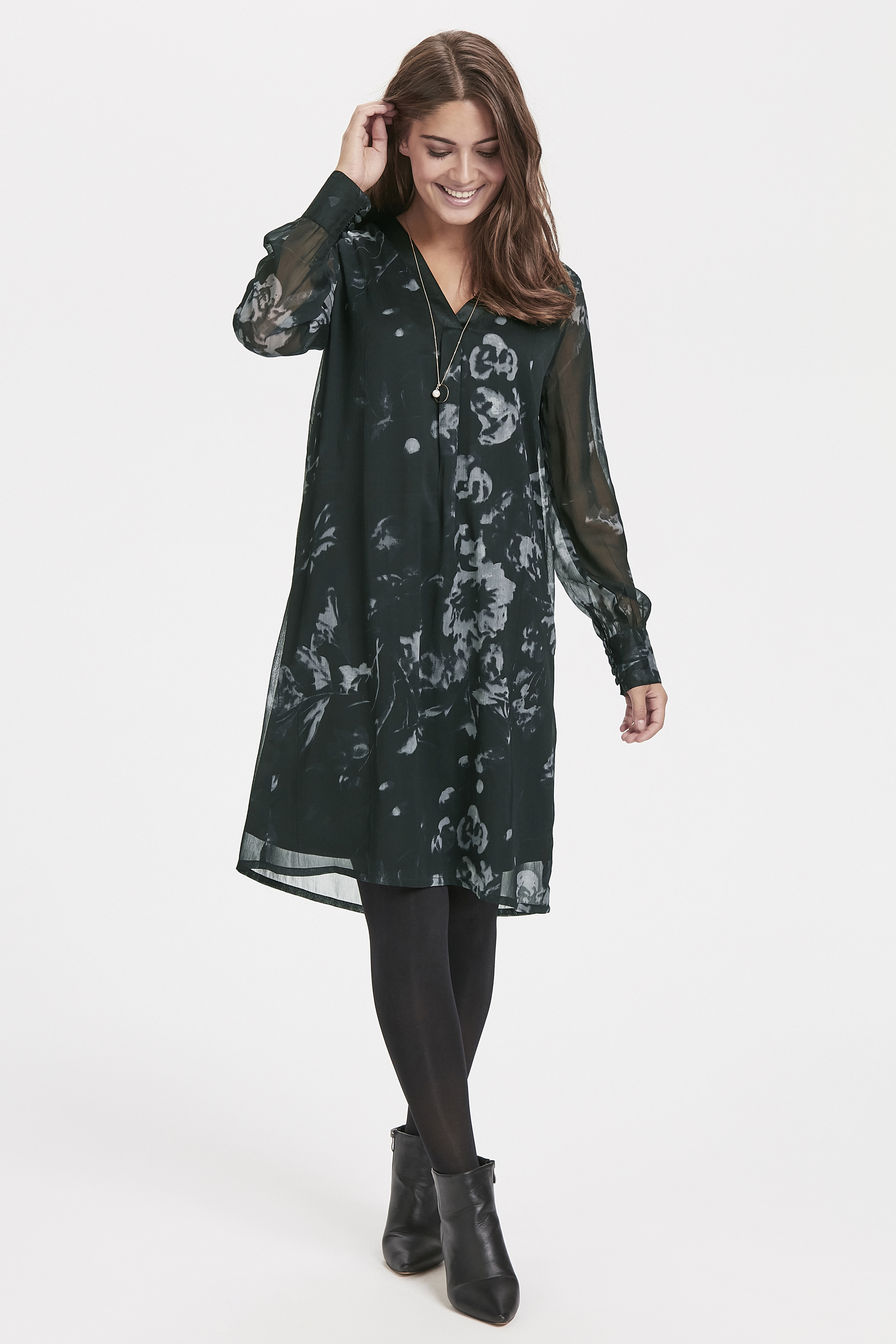 Schwarz/grau Kleid von Bon'A Parte – Shoppen Sie Schwarz/grau Kleid ab Gr. S-2XL hier