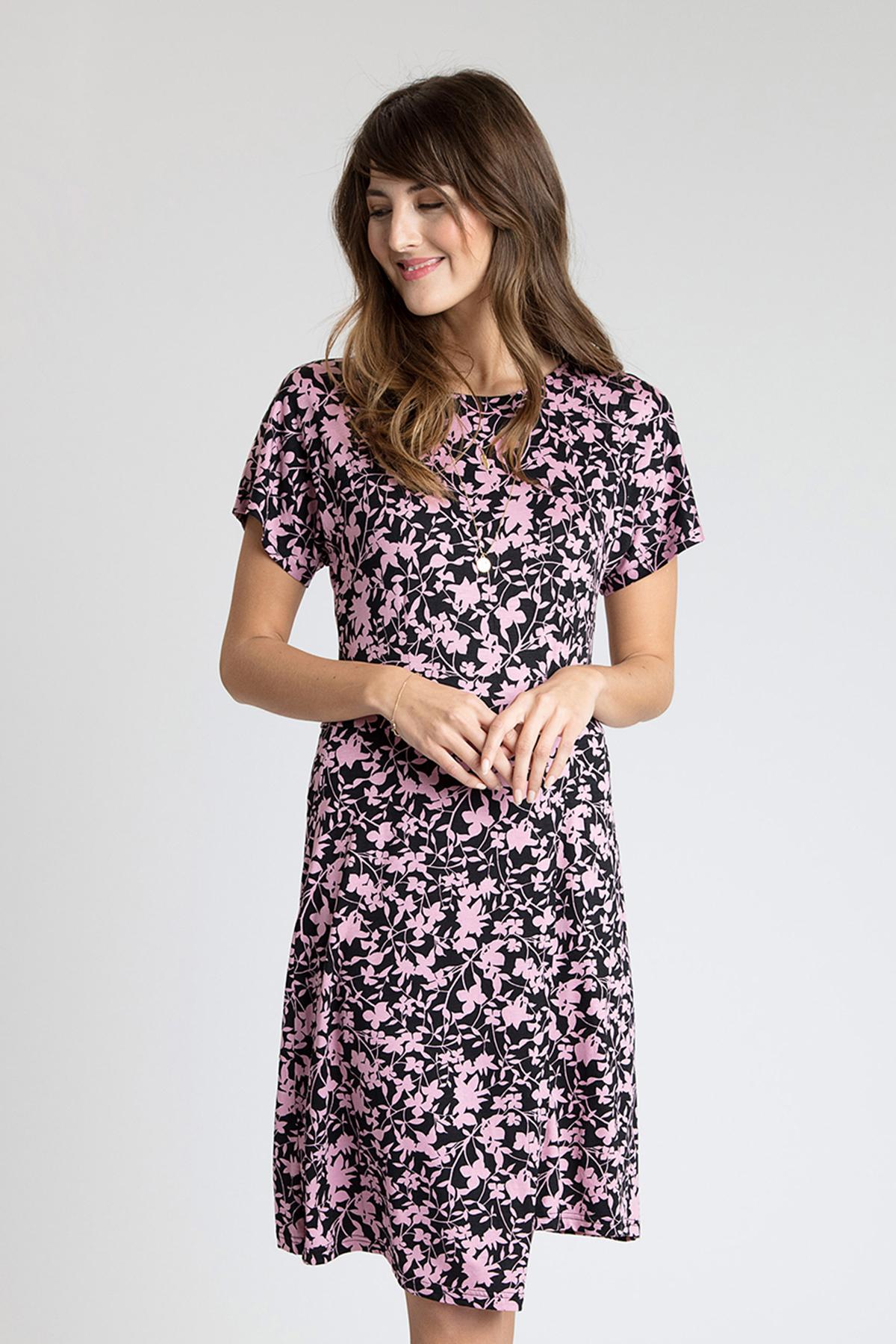 Schwarz/helllila Kleid von Bon'A Parte – Shoppen Sie Schwarz/helllila Kleid ab Gr. S-2XL hier