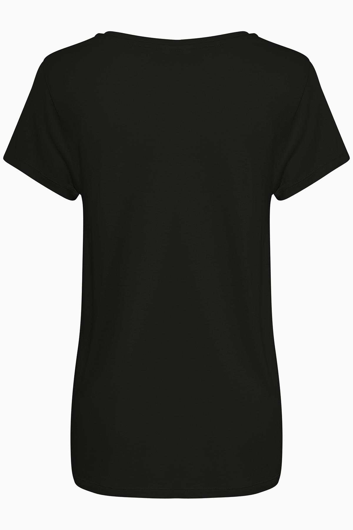 Schwarz Kurzarm T-Shirt von Kaffe – Shoppen Sie Schwarz Kurzarm T-Shirt ab Gr. XS-XXL hier