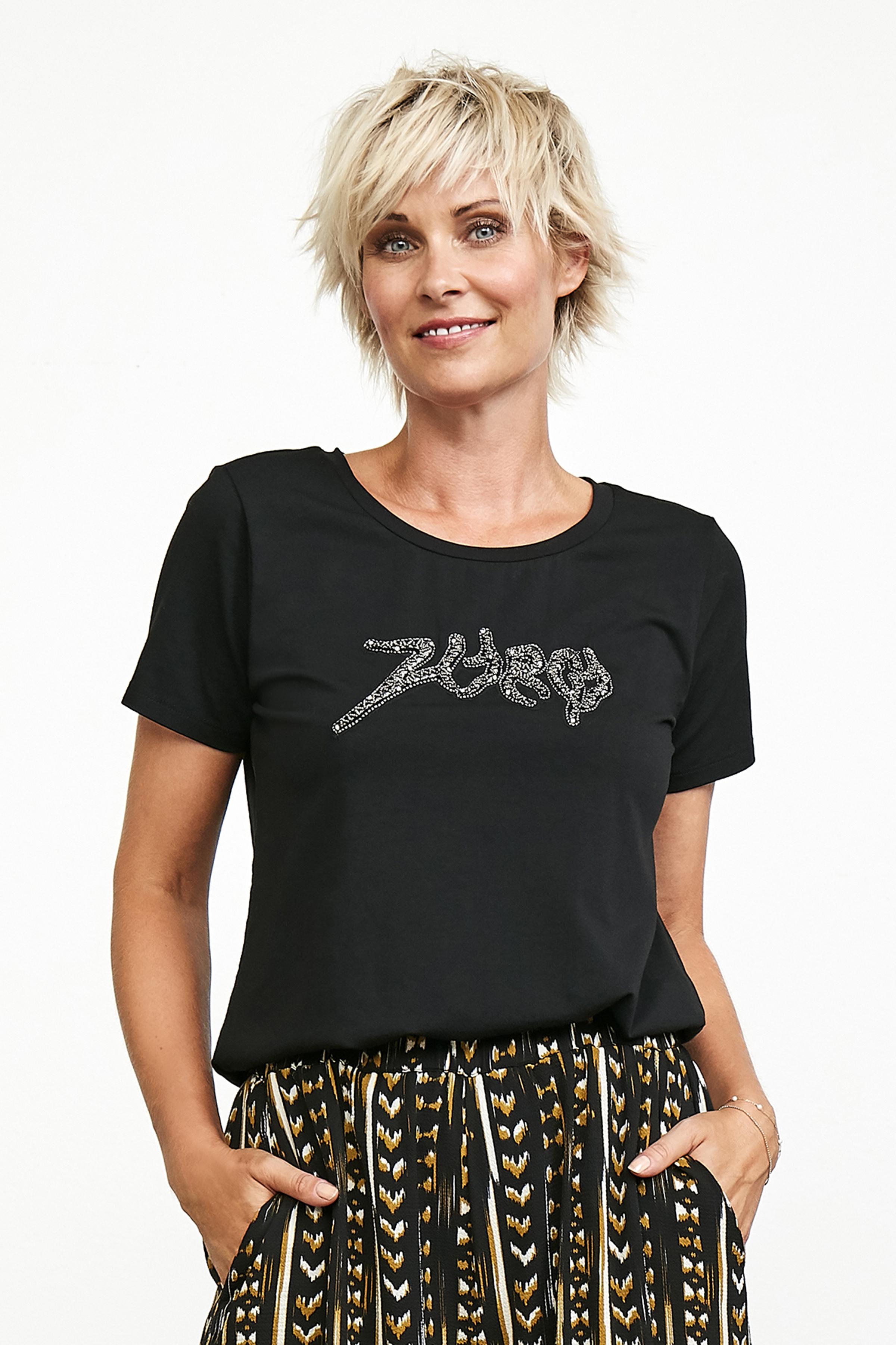 Schwarz Kurzarm T-Shirt von Culture – Shoppen Sie Schwarz Kurzarm T-Shirt ab Gr. XS-XXL hier