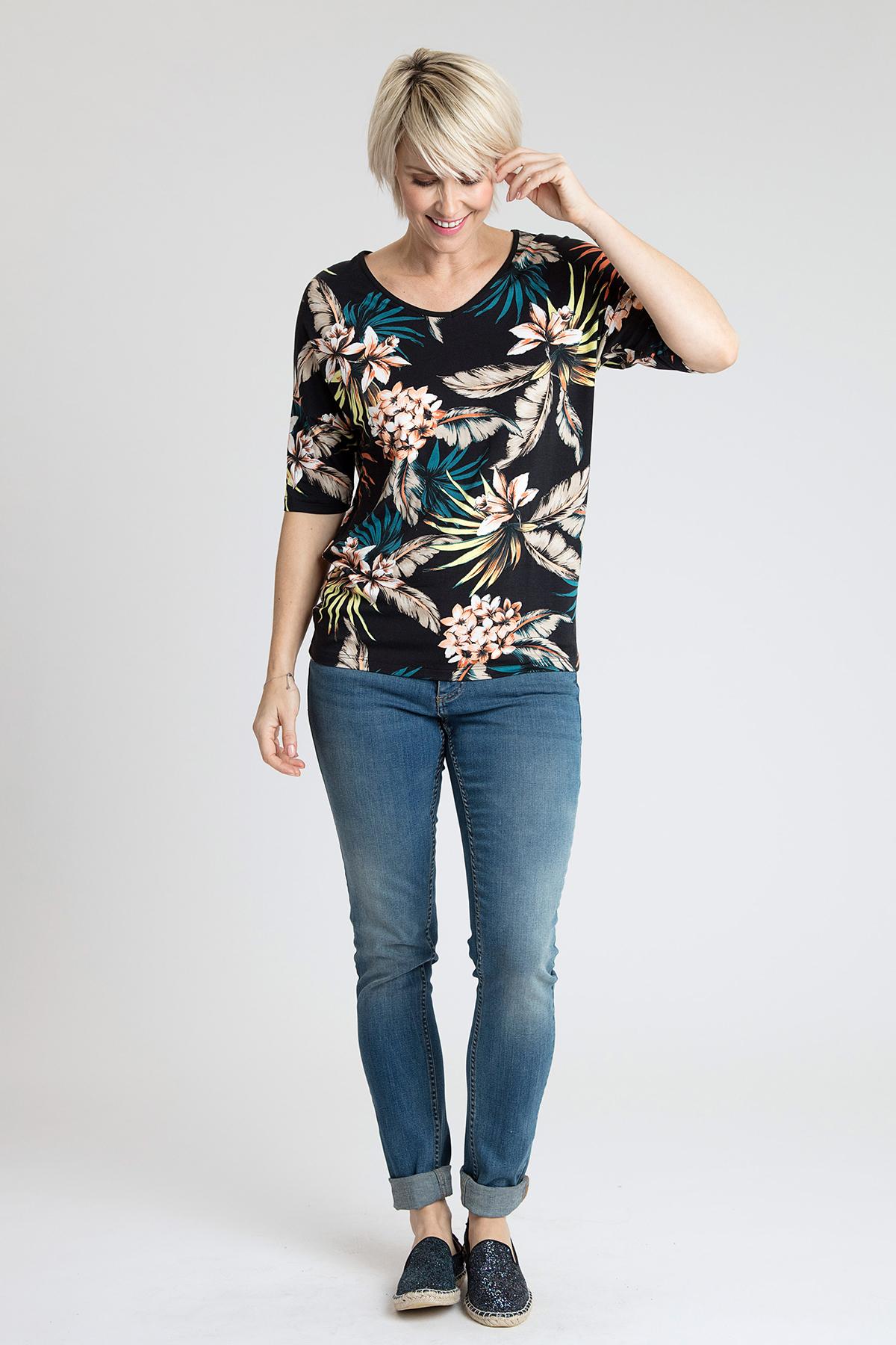Schwarz Kurzarm T-Shirt von Bon'A Parte – Shoppen Sie Schwarz Kurzarm T-Shirt ab Gr. S-2XL hier