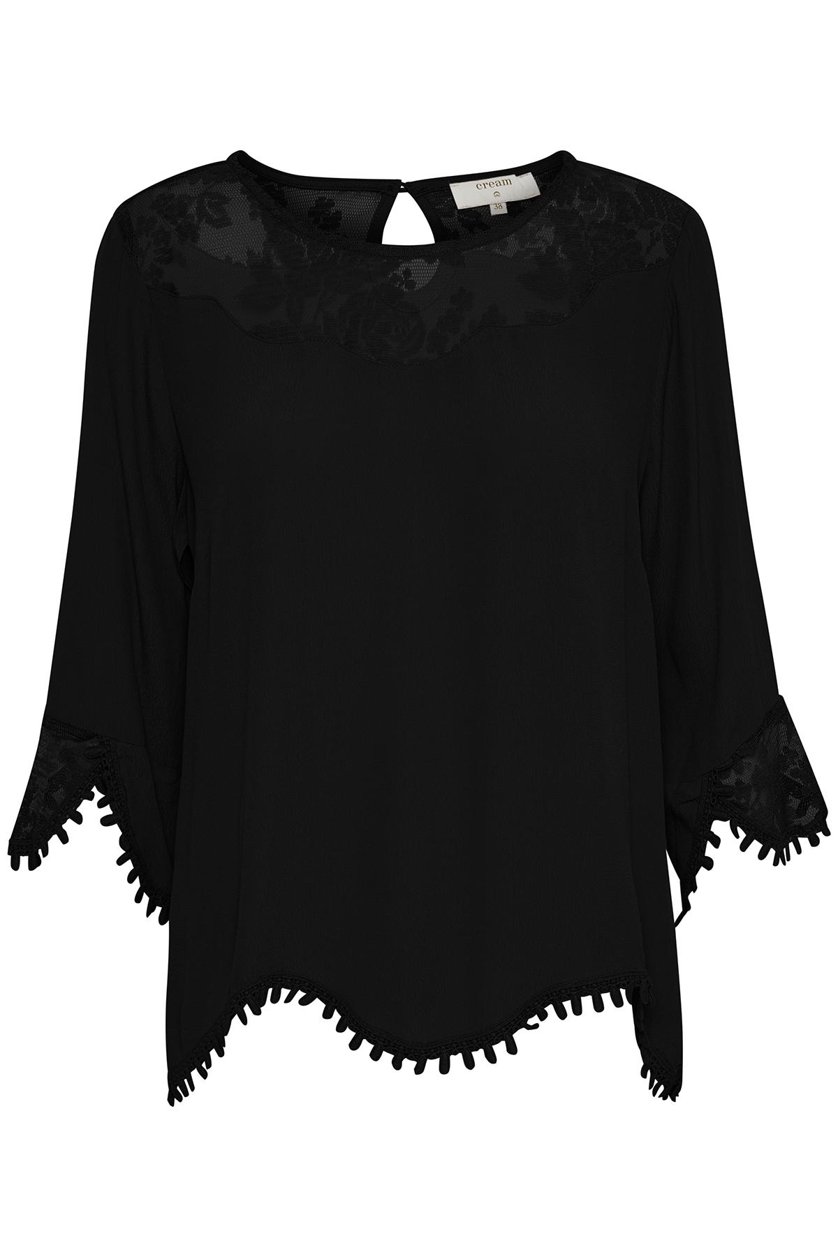 Schwarz Langarm-Bluse von Cream – Shoppen Sie Schwarz Langarm-Bluse ab Gr. 34-46 hier