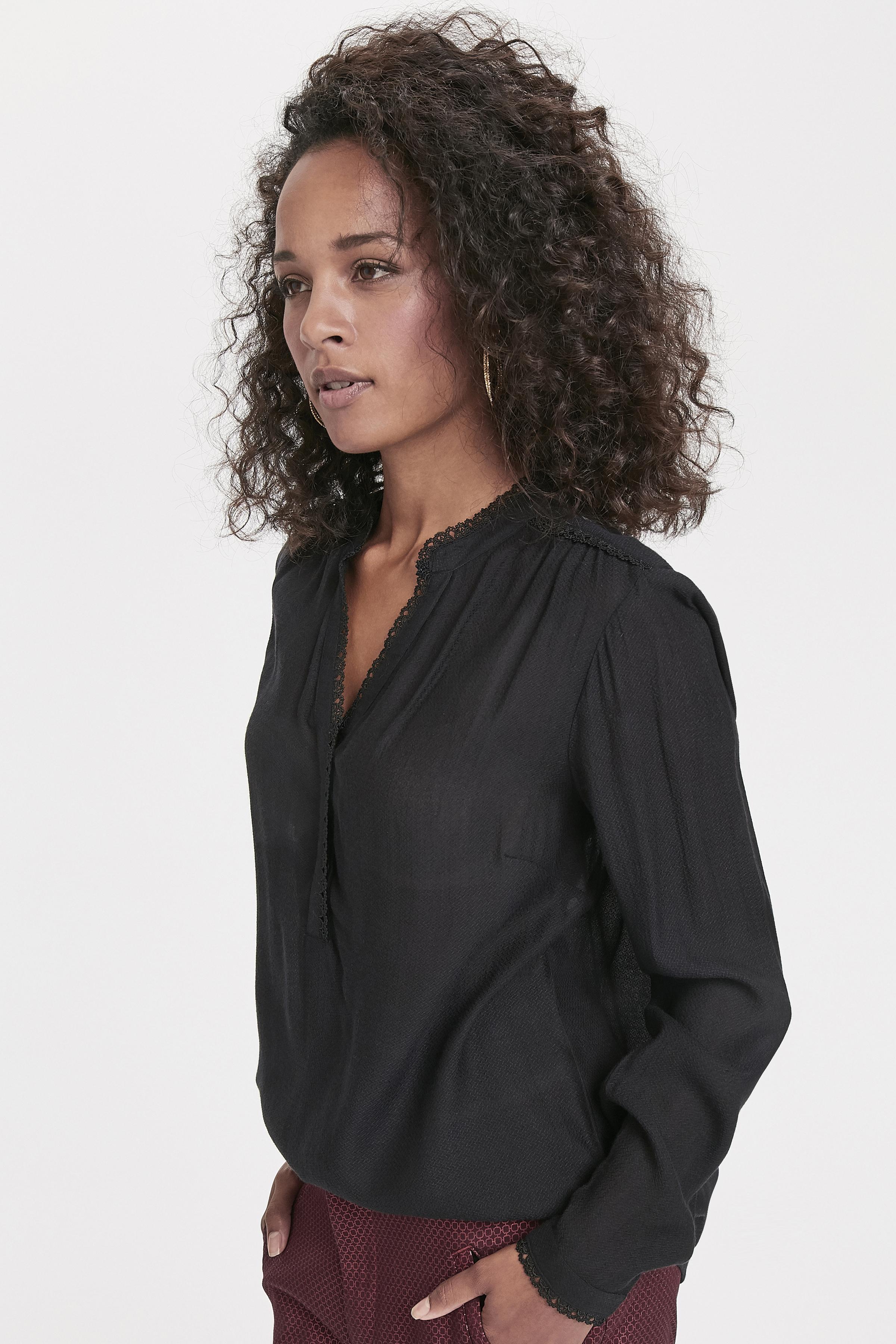 Schwarz Langarm-Bluse von Bon'A Parte – Shoppen Sie Schwarz Langarm-Bluse ab Gr. S-2XL hier