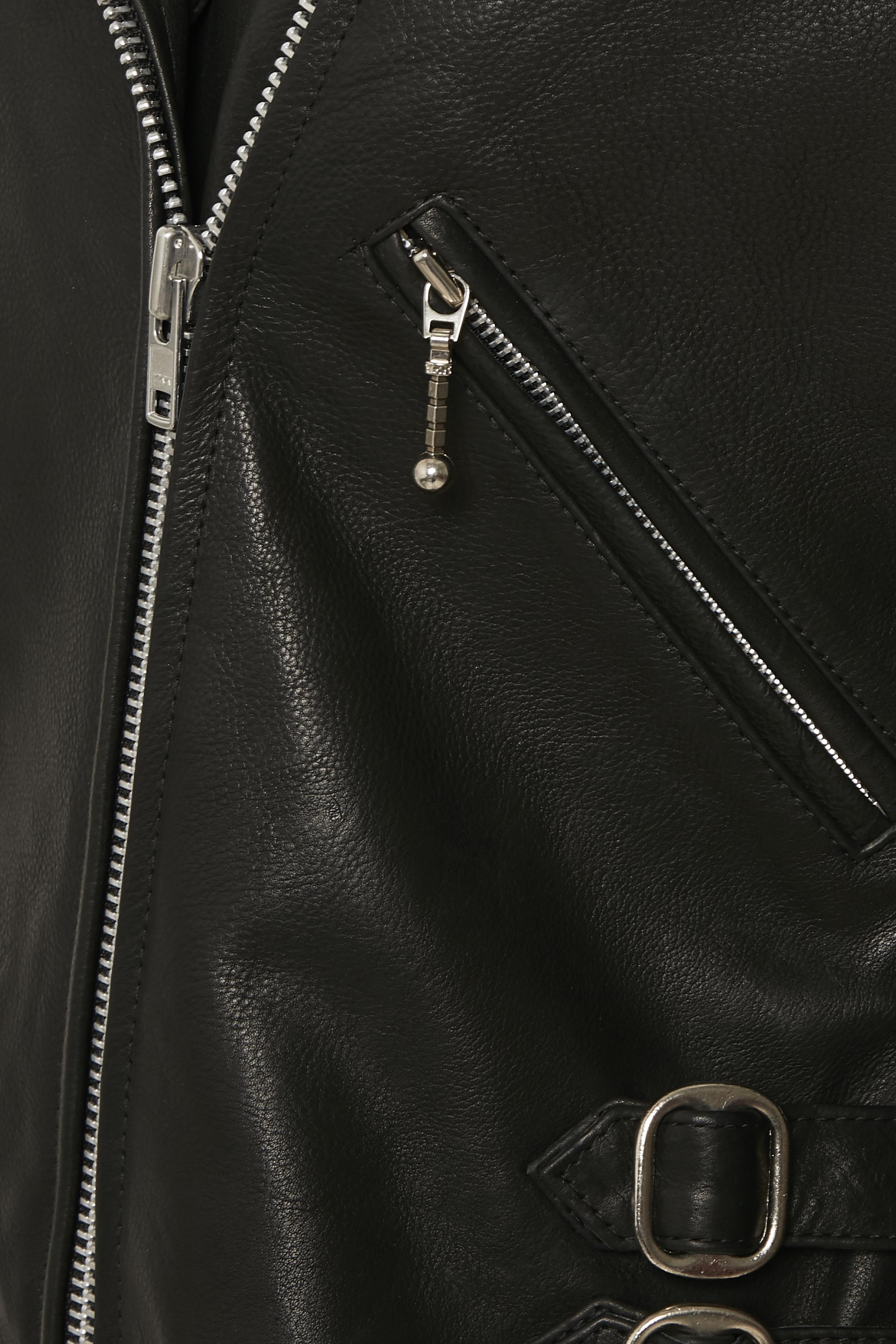 Schwarz Lederjacke von Bon'A Parte – Shoppen Sie Schwarz Lederjacke ab Gr. 36-48 hier