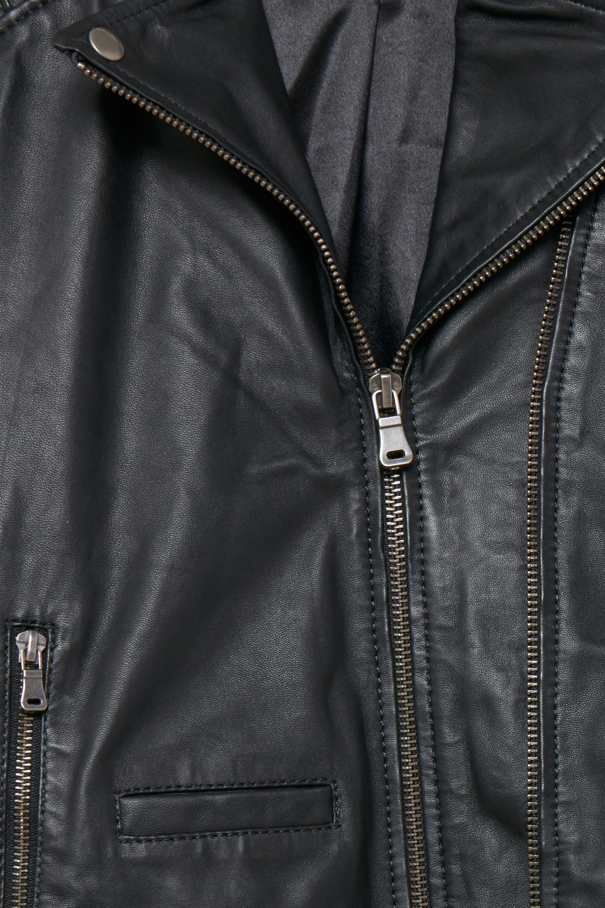 Schwarz Lederjacke von Fransa – Shoppen Sie Schwarz Lederjacke ab Gr. 34-46 hier