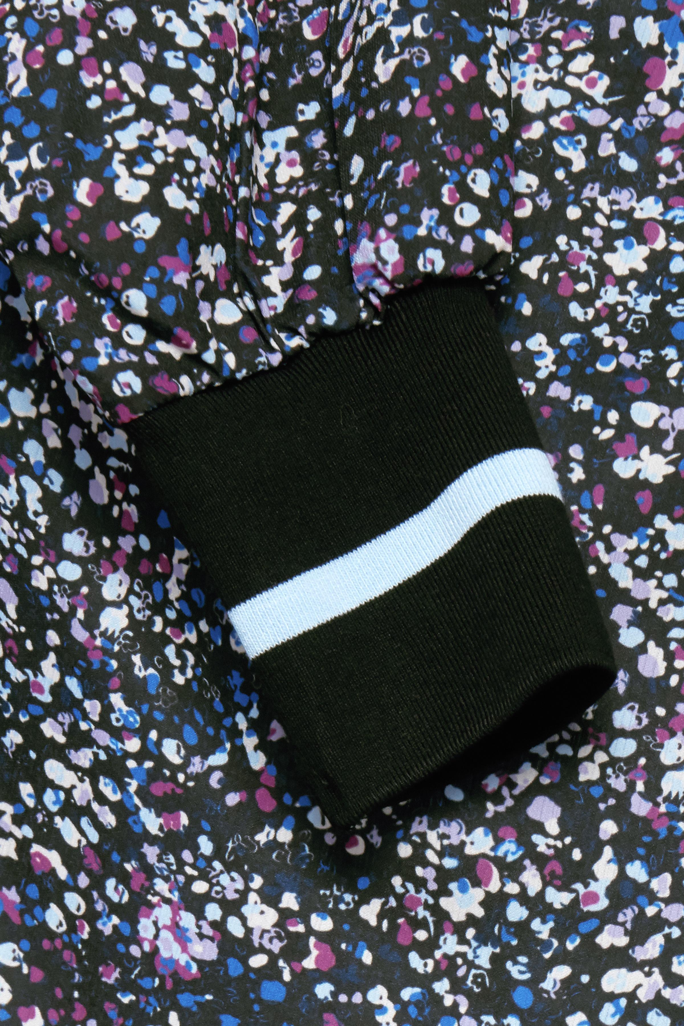 Schwarz/lila Langarm-Bluse  von Dranella – Shoppen Sie Schwarz/lila Langarm-Bluse  ab Gr. XS-XXL hier