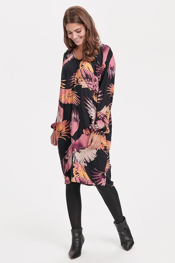 Schwarz/rosa Kleid von Culture - Shoppen Sie Schwarz/rosa ...