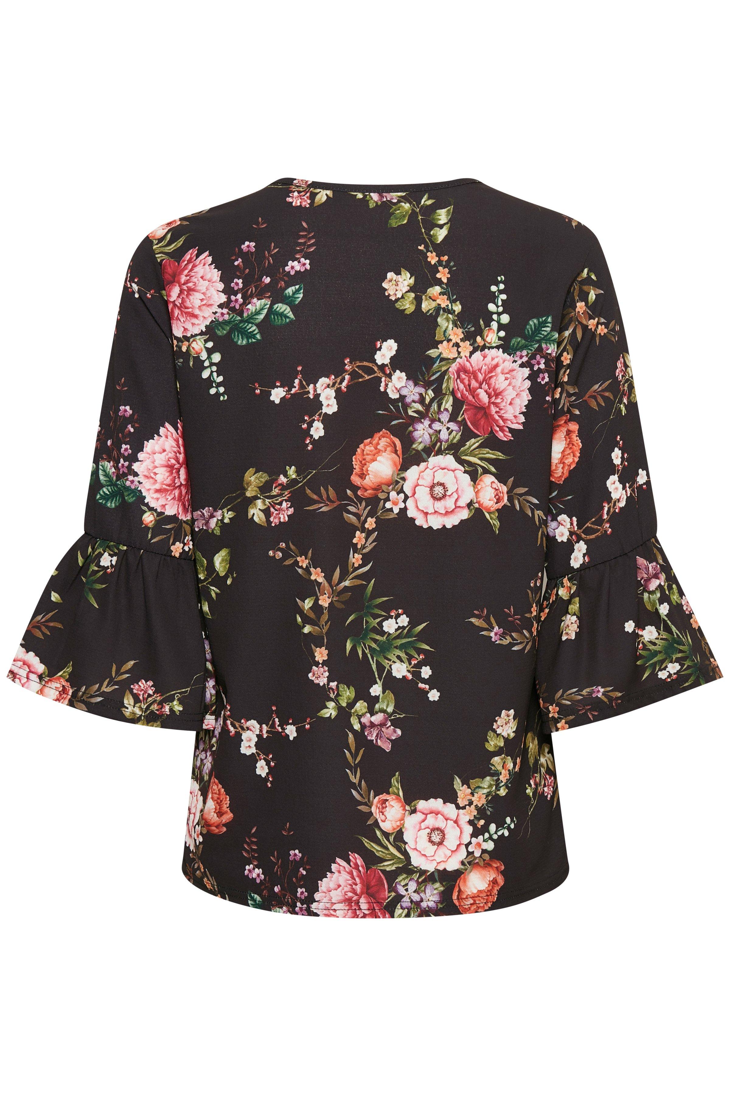 Schwarz/rosa Langarm-Bluse von Dranella – Shoppen Sie Schwarz/rosa Langarm-Bluse ab Gr. S-XXL hier