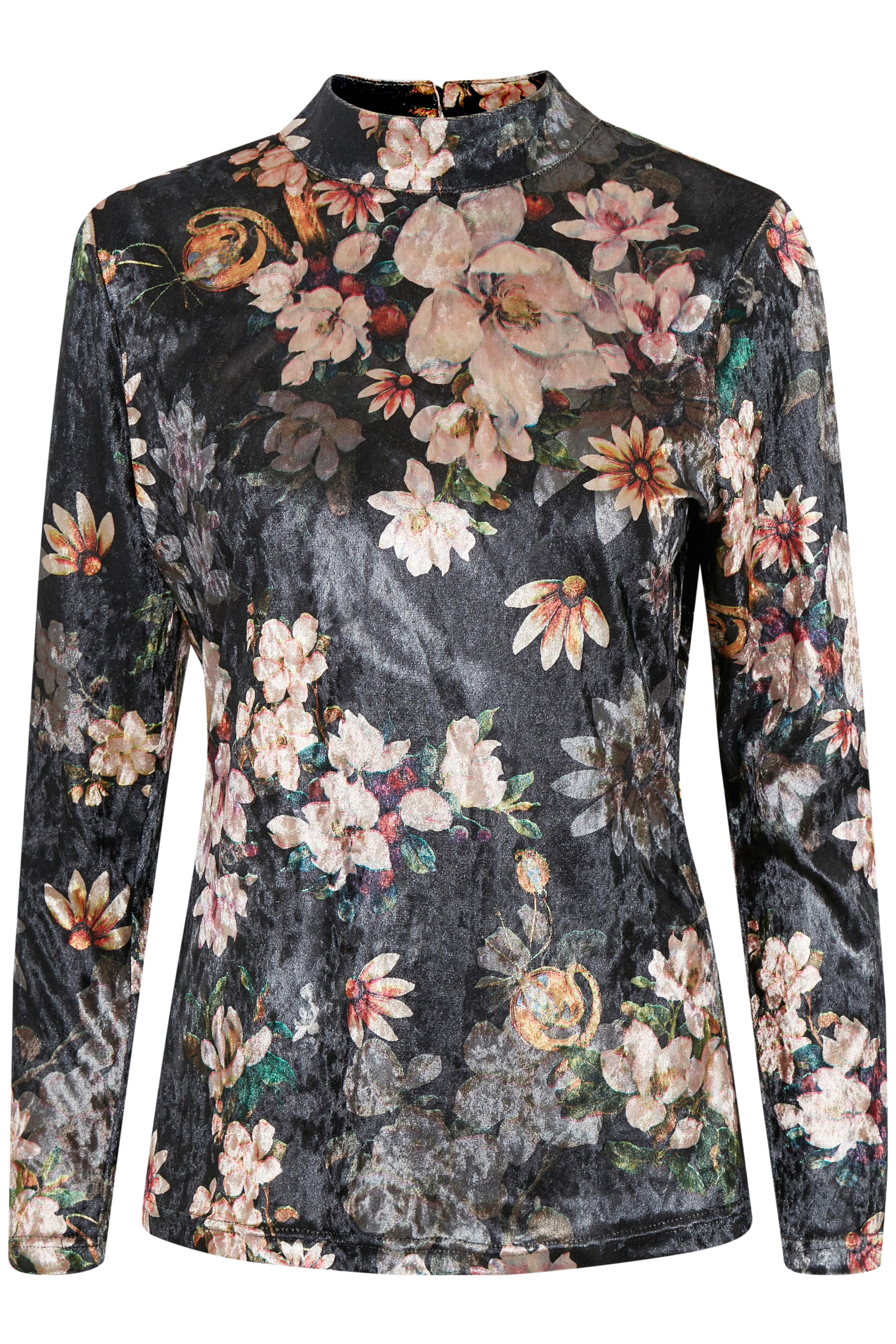 Schwarz/rosa Langarm-Bluse von Kaffe – Shoppen Sie Schwarz/rosa Langarm-Bluse ab Gr. XS-XXL hier