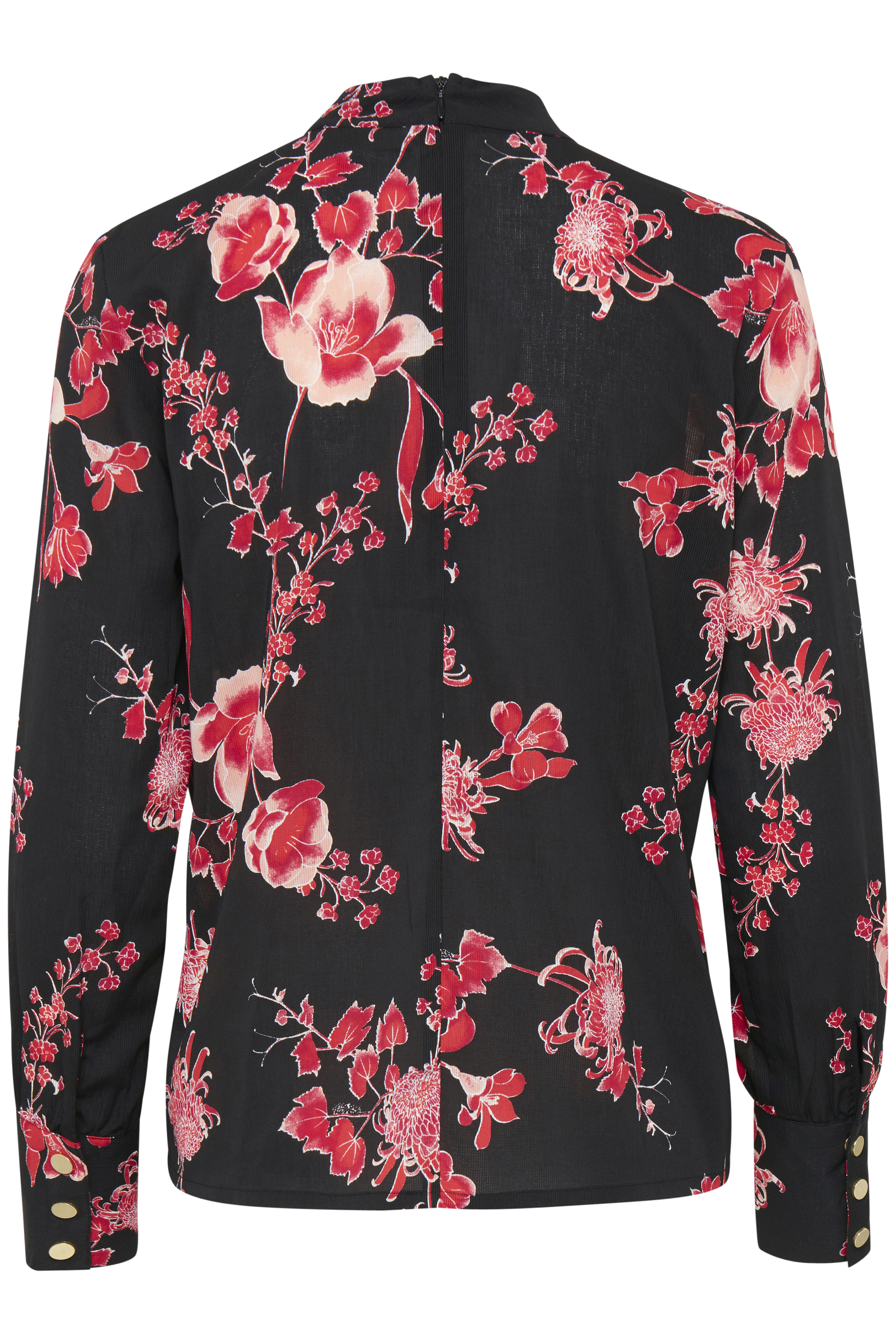 Schwarz/rot Langarm-Bluse von Dranella – Shoppen Sie Schwarz/rot Langarm-Bluse ab Gr. XS-XXL hier