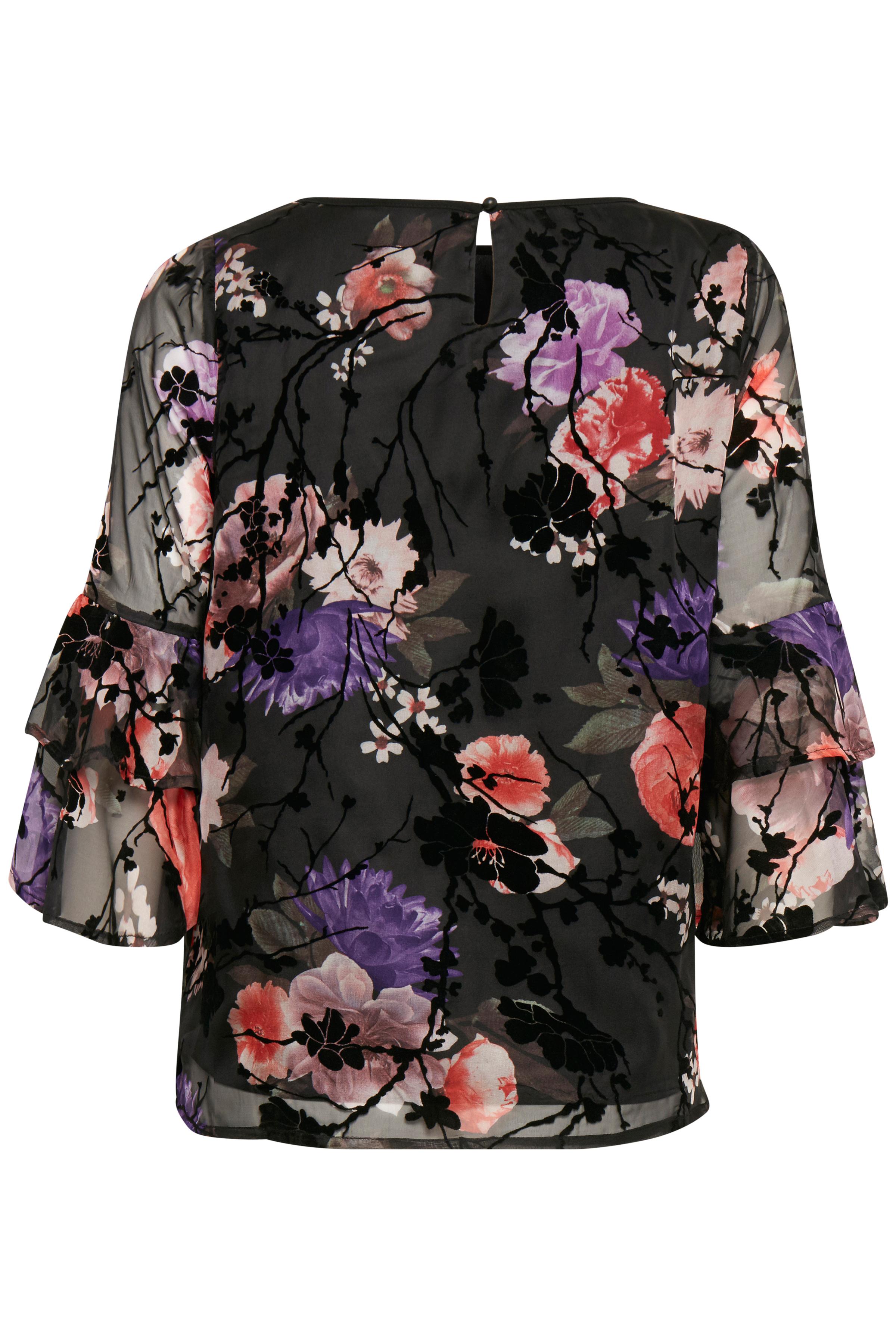 Schwarz/rot Langarm-Bluse von Fransa – Shoppen Sie Schwarz/rot Langarm-Bluse ab Gr. XS-XXL hier