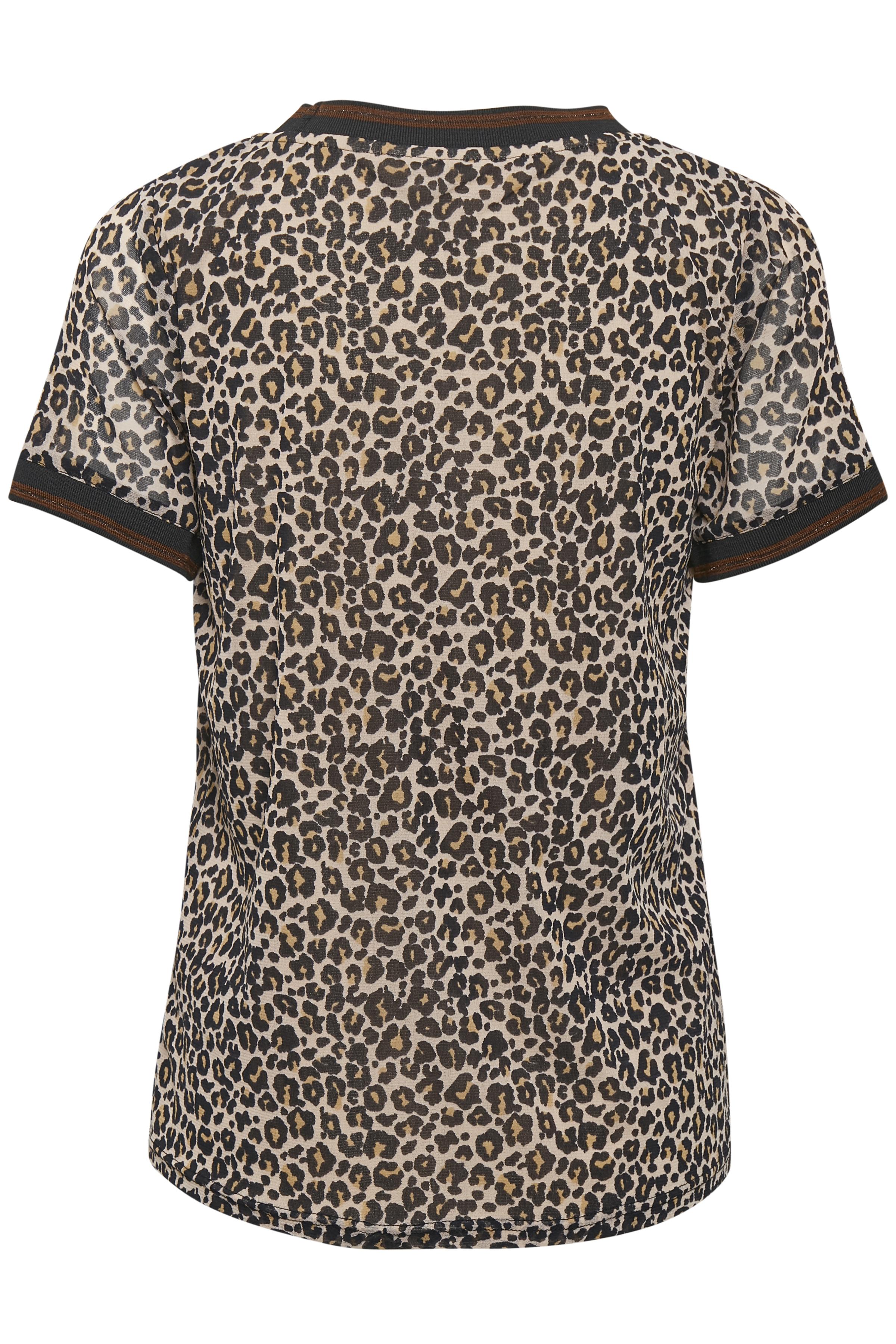 Schwarz/sand Kurzarm-Bluse von Bon'A Parte – Shoppen Sie Schwarz/sand Kurzarm-Bluse ab Gr. S-2XL hier