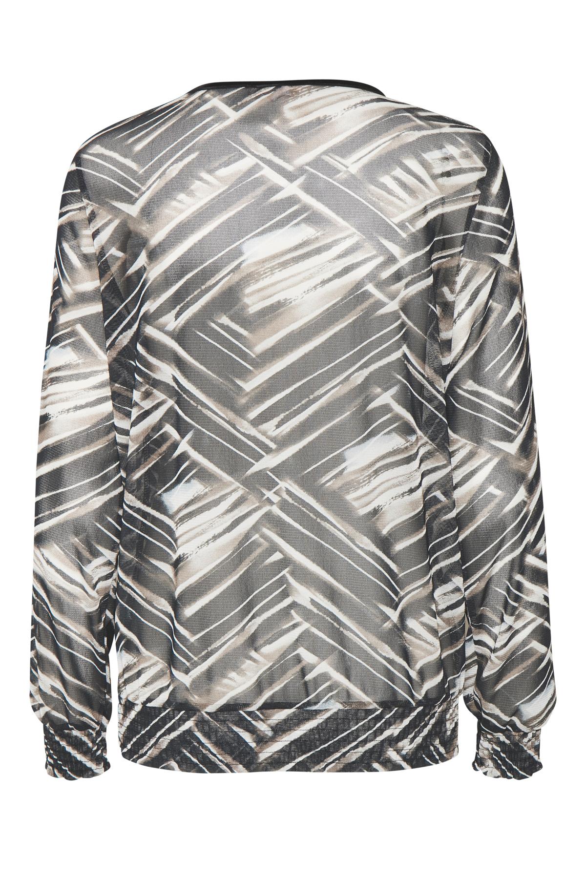 Schwarz/sand Langarm-Bluse von Bon'A Parte – Shoppen Sie Schwarz/sand Langarm-Bluse ab Gr. S-2XL hier
